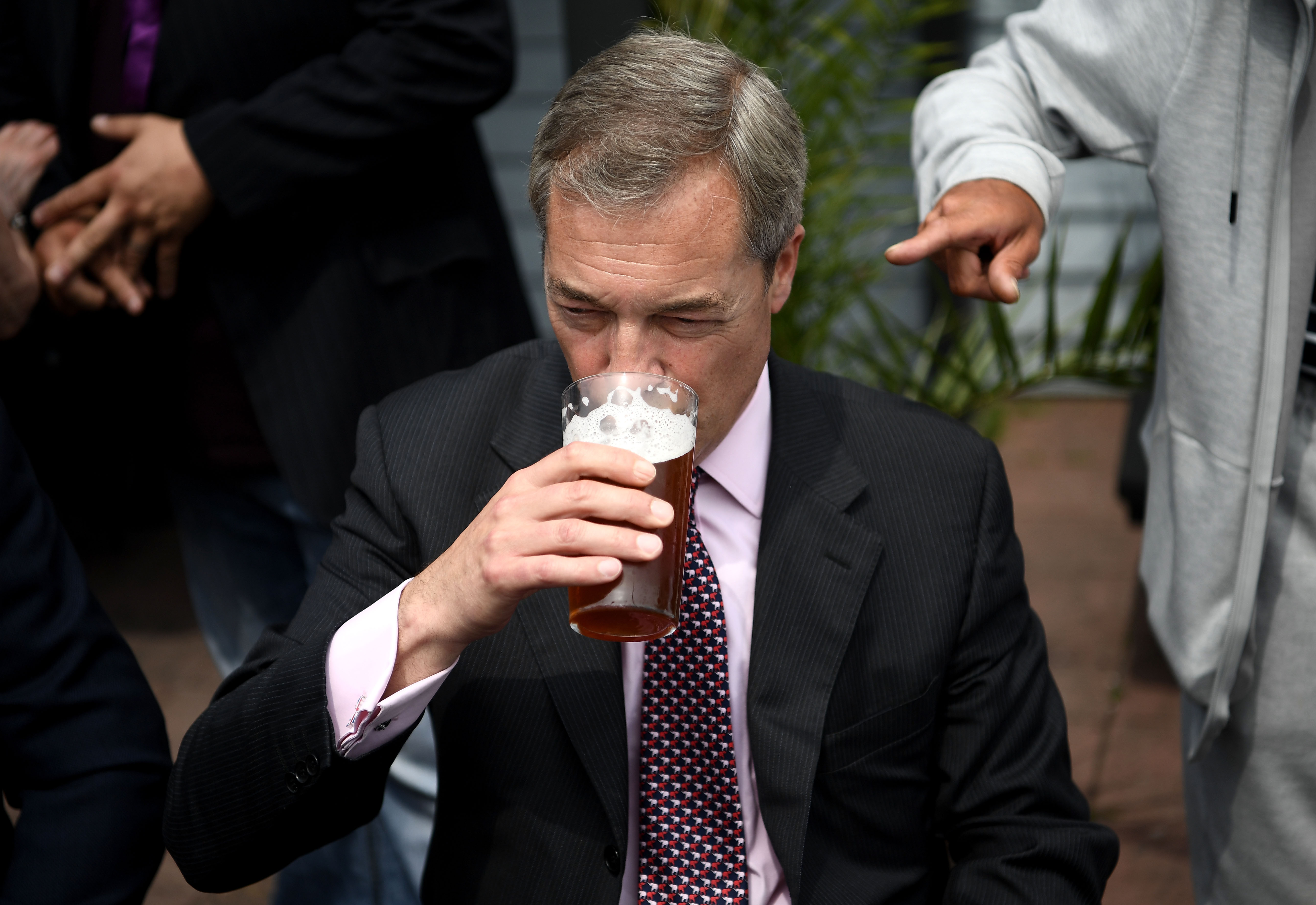 Nigel Farage Campaigns With Clacton's UKIP Candidate
