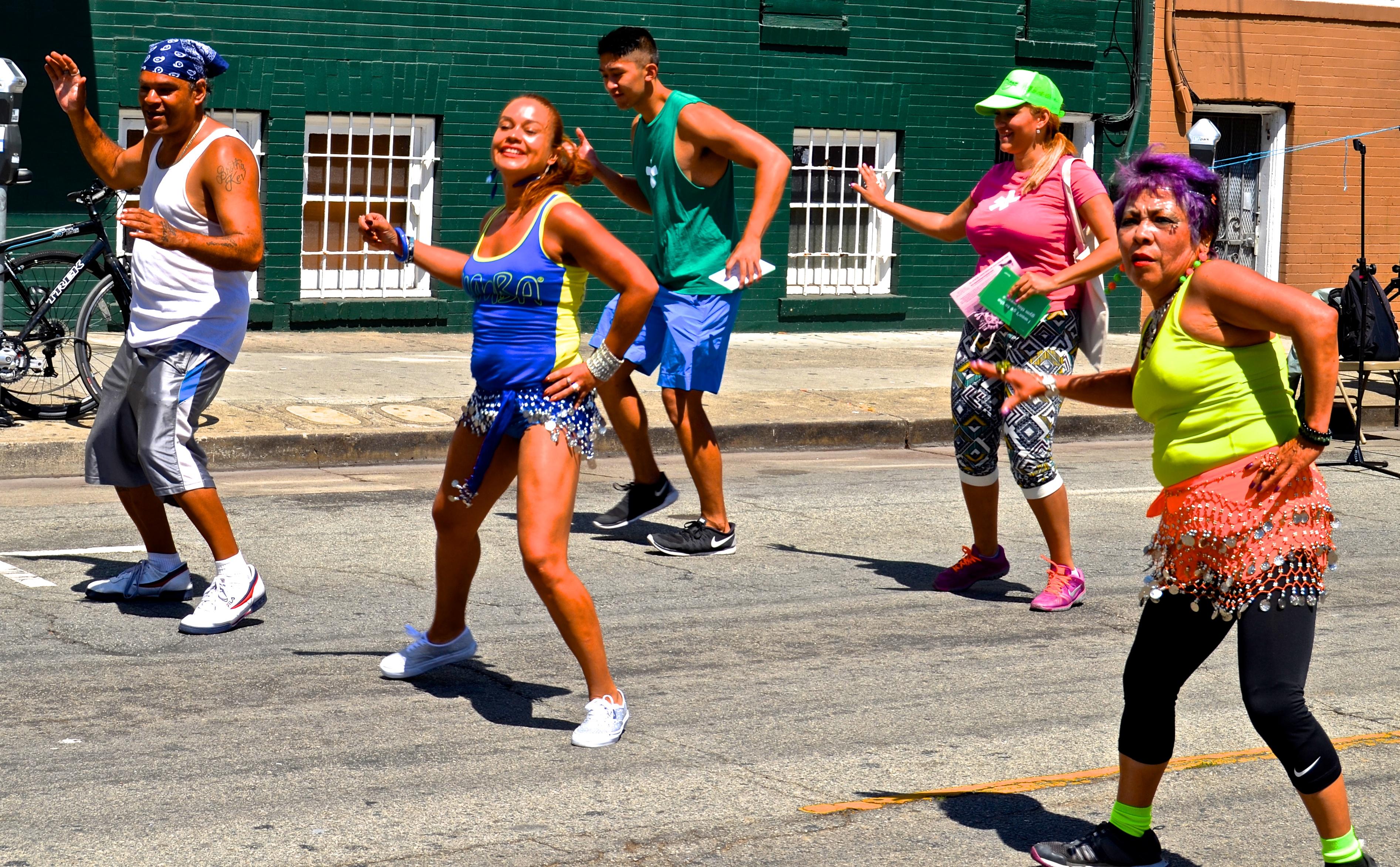 San Francisco Sunday Streets on Valencia, 2014.