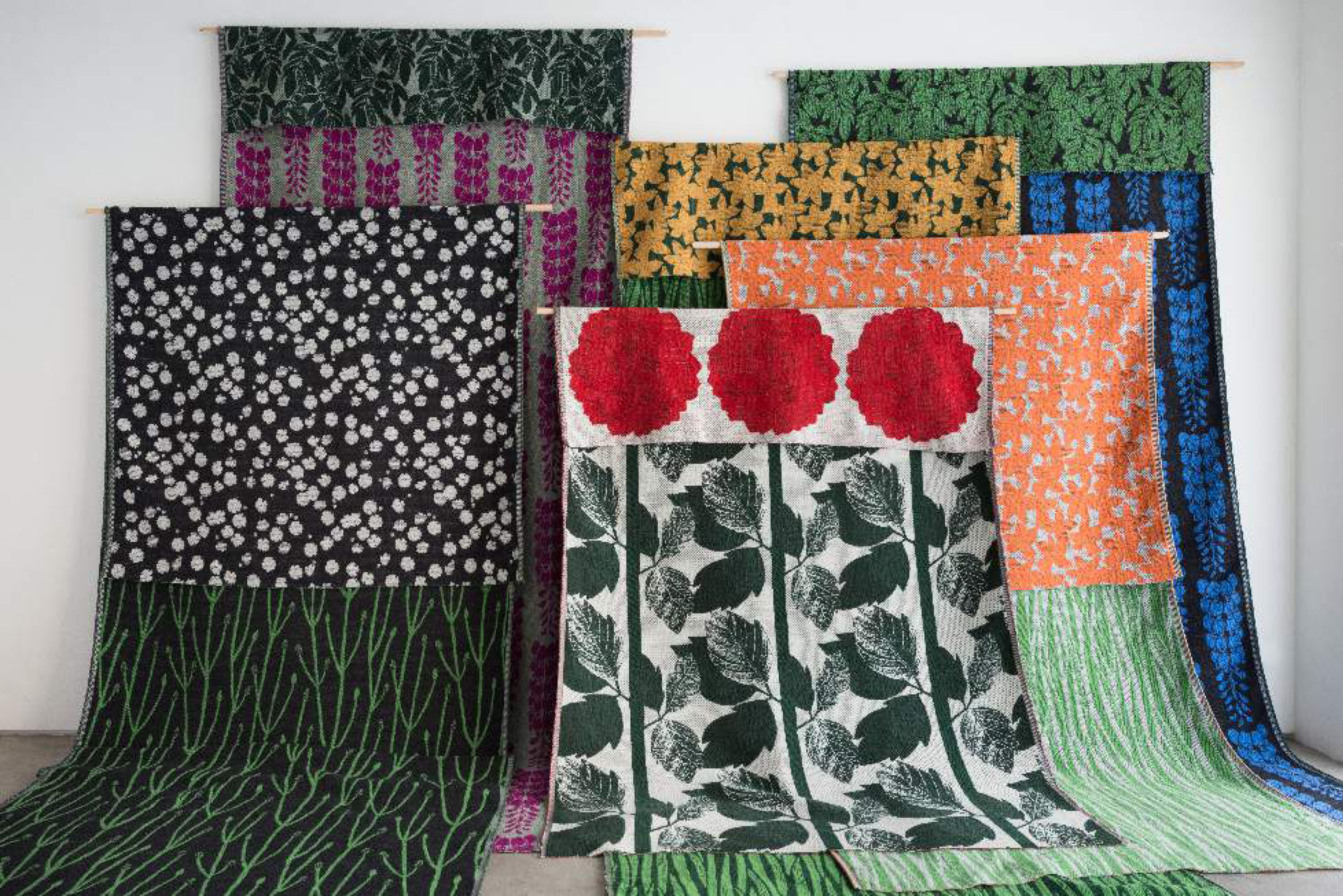 """""""Bloom"""" blankets by Yuri Himuro were on display during the second-annual Designart Tokyo fair in October."""