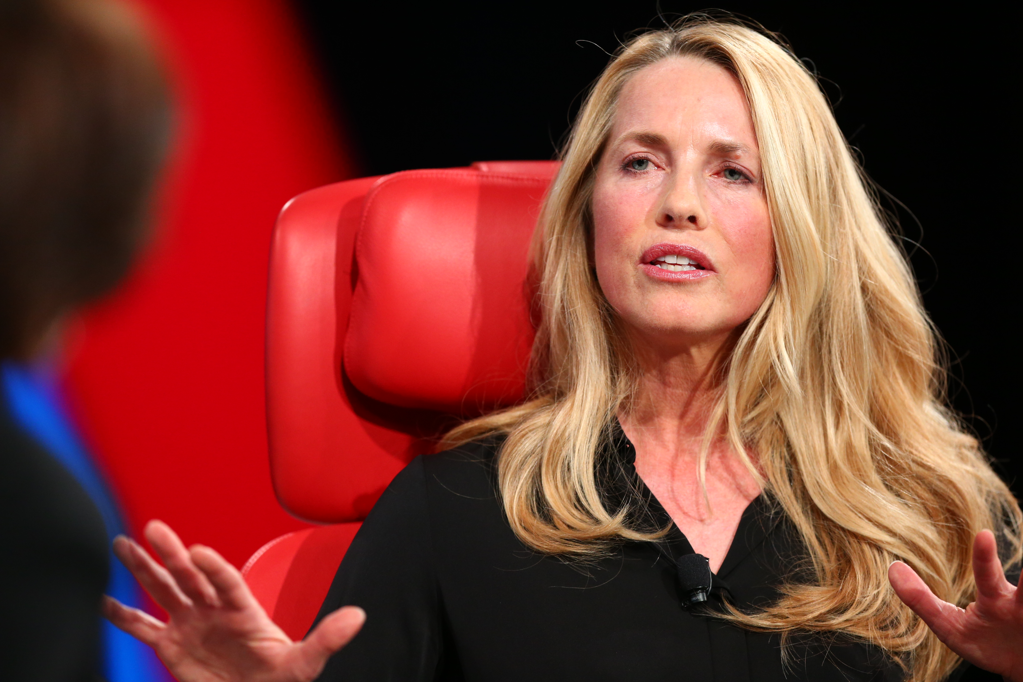 Laurene Powell Jobs onstage at Code 2017.