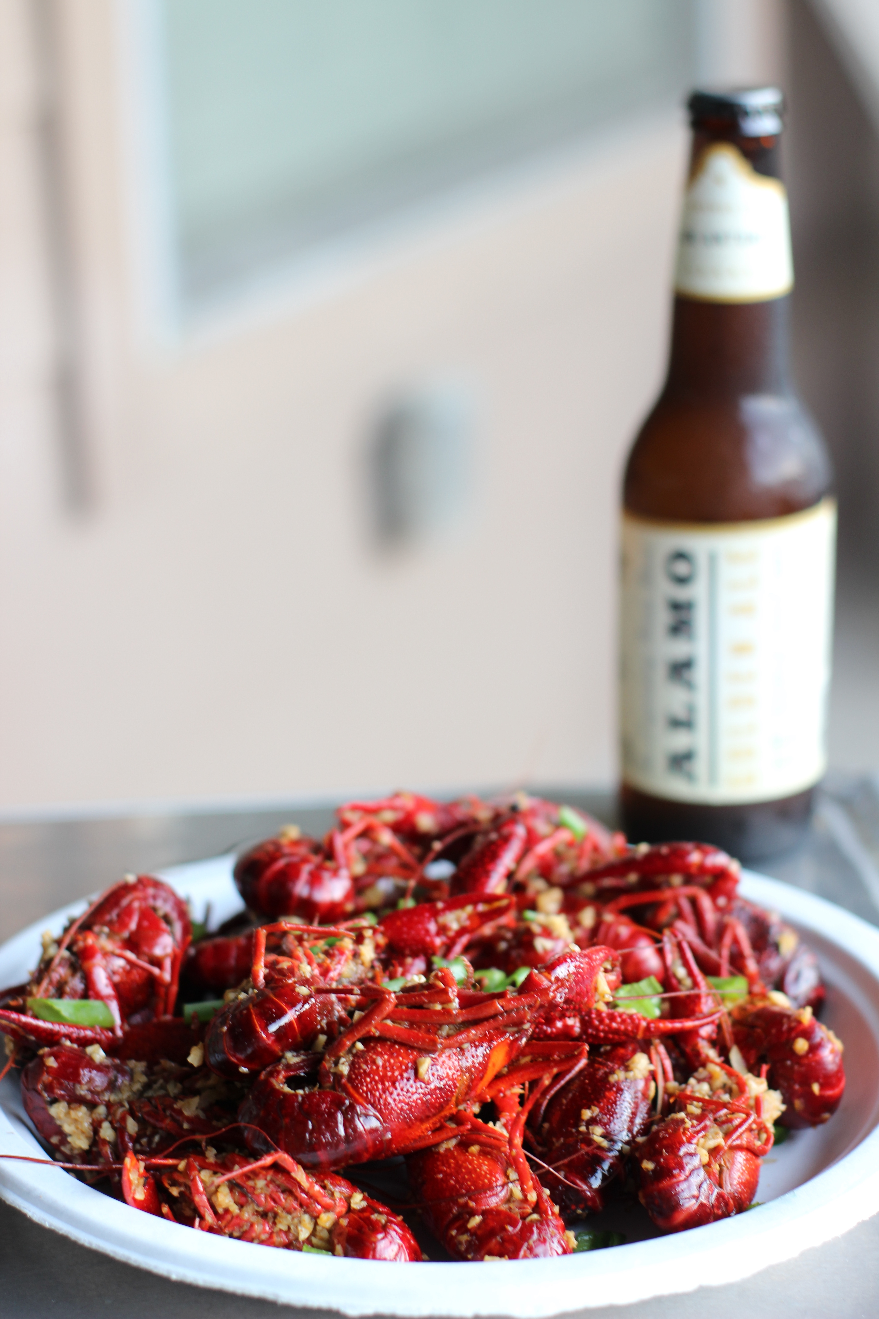 Pinch Boil House's crawfish with garlic butter sauce