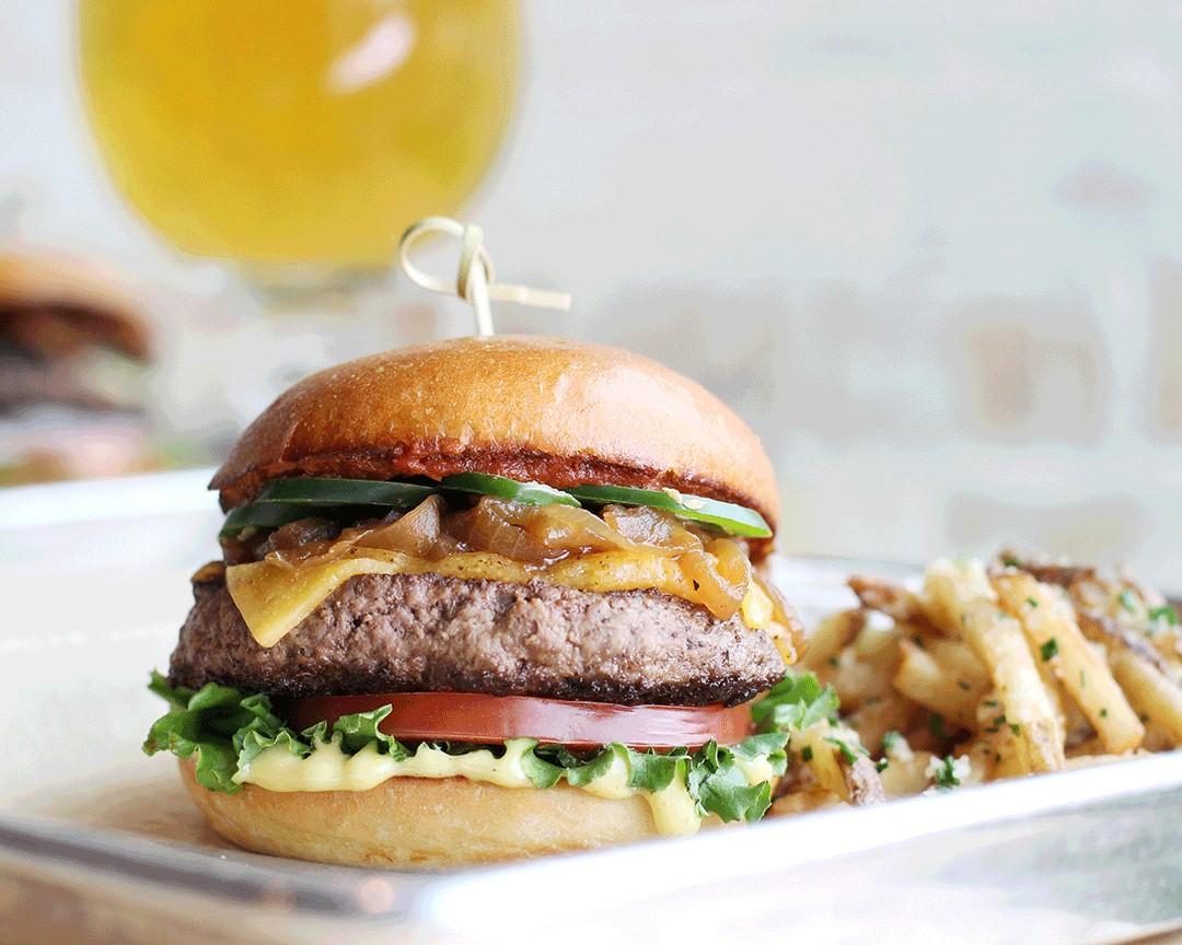 The Goodnight burger at Hopdoddy Burger Bar