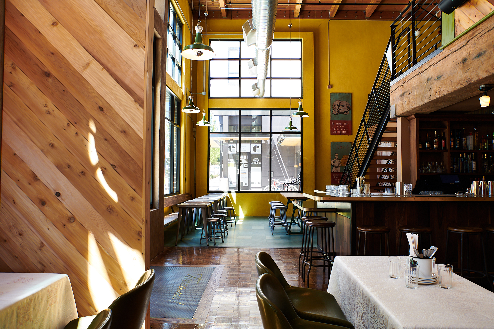 The sprawling dining room at Kachka