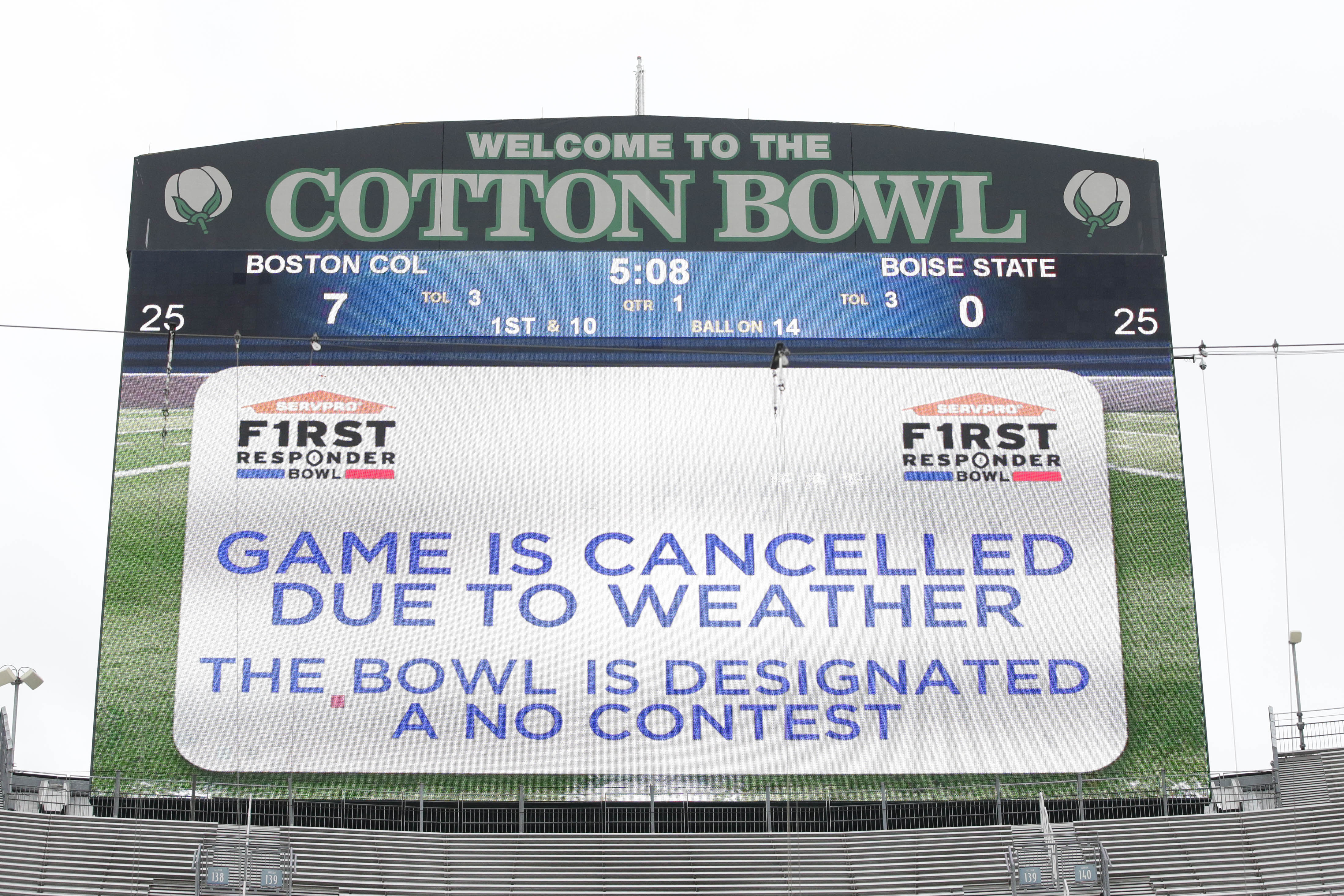 First Responder Bowl canceled: FAQs on Boise State-BC no contest