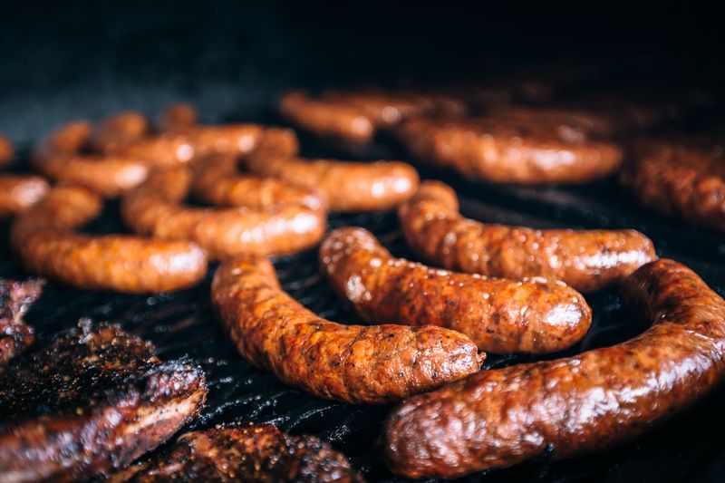 Micklethwait Craft Meats' sausages.