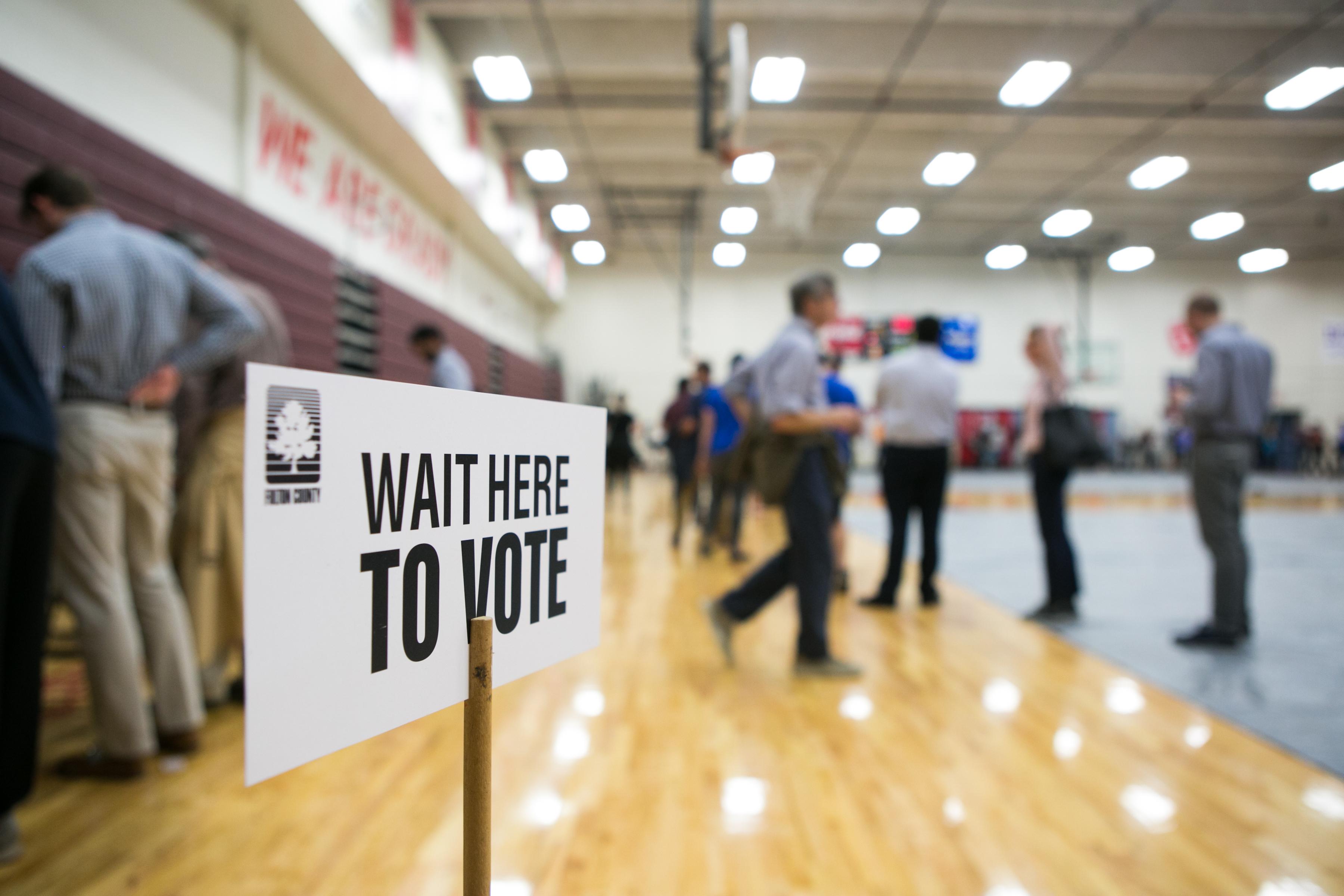 Georgia voters on November 6, 2018