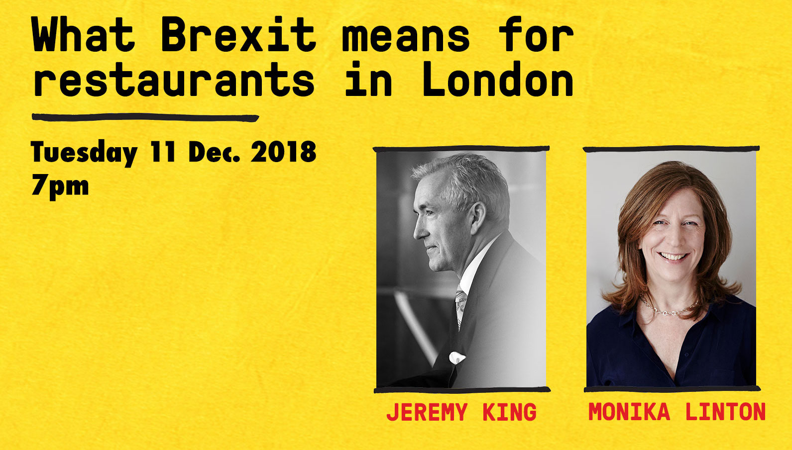 Eater London's Brexit talk for London restaurants features Jeremy King of The Wolseley and Monika Linton of Brindisa