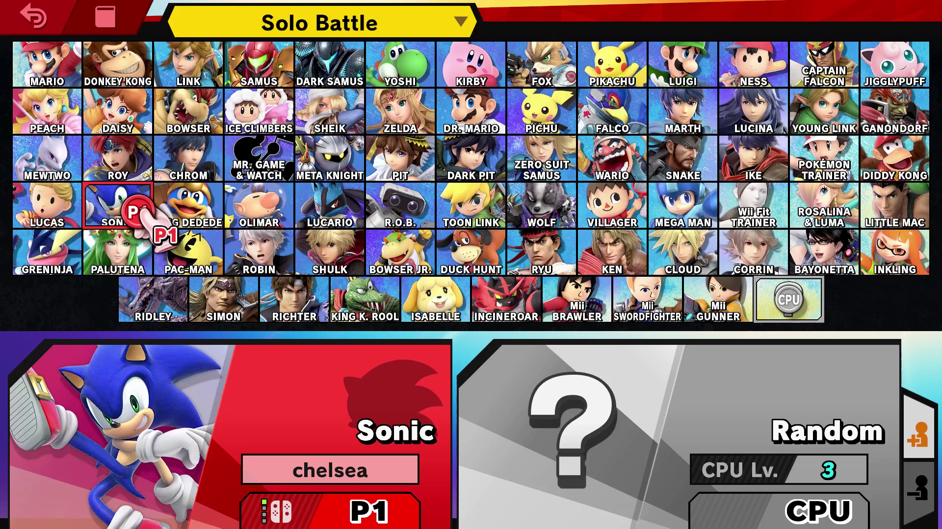 Super Smash Bros. Ultimate - full playable character roster