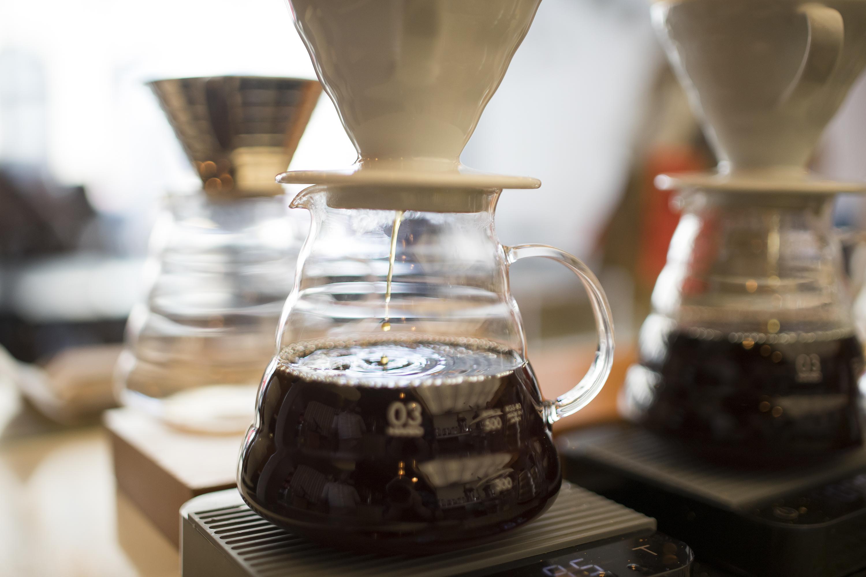 Brewing coffee at Intelligentsia