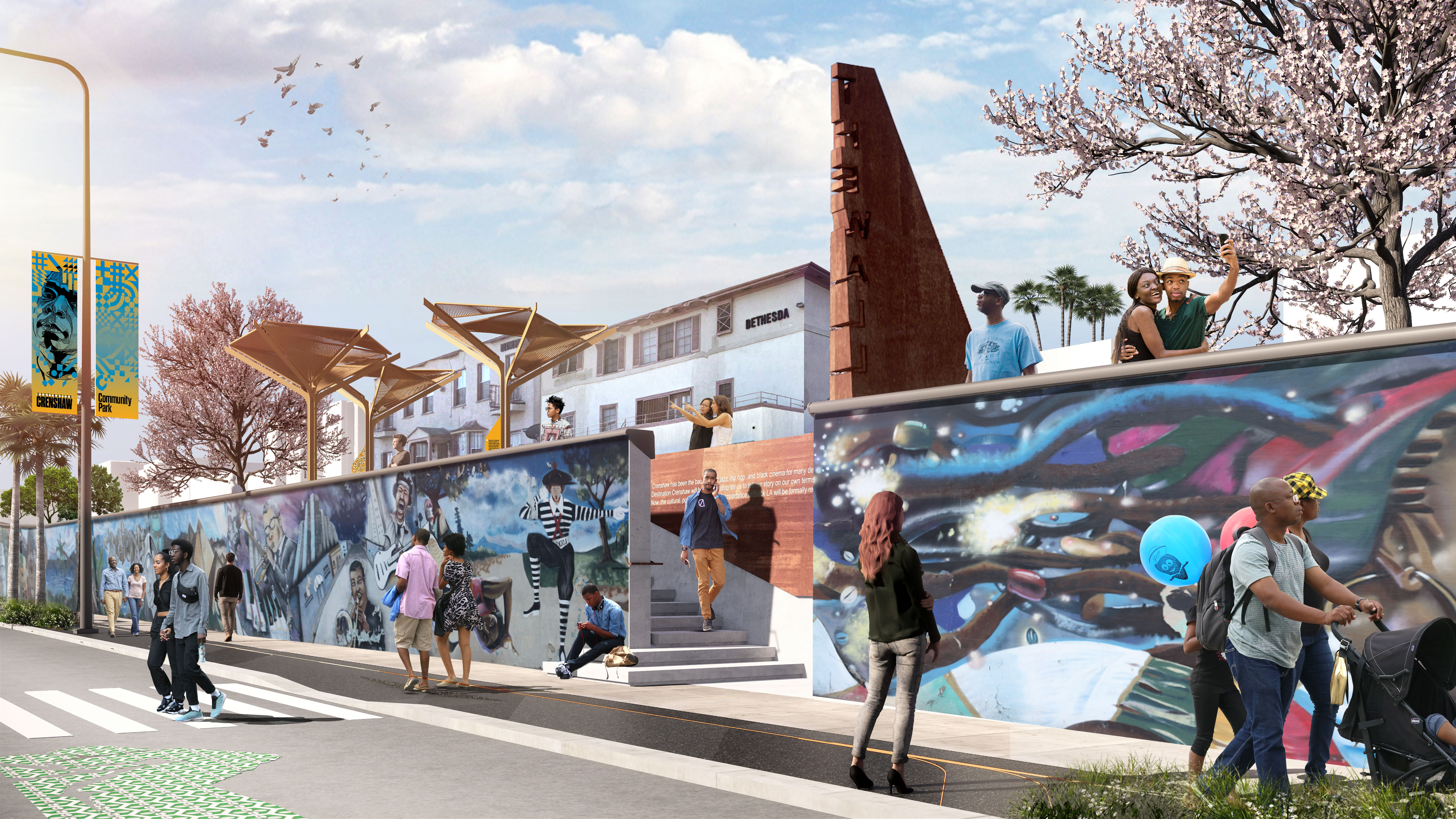 First look at Destination Crenshaw, an open-air 'museum' set to run along the Crenshaw Line