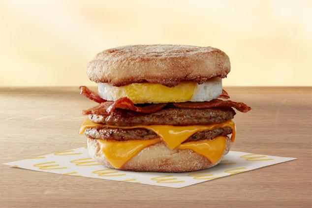 McDonald's breakfast stack