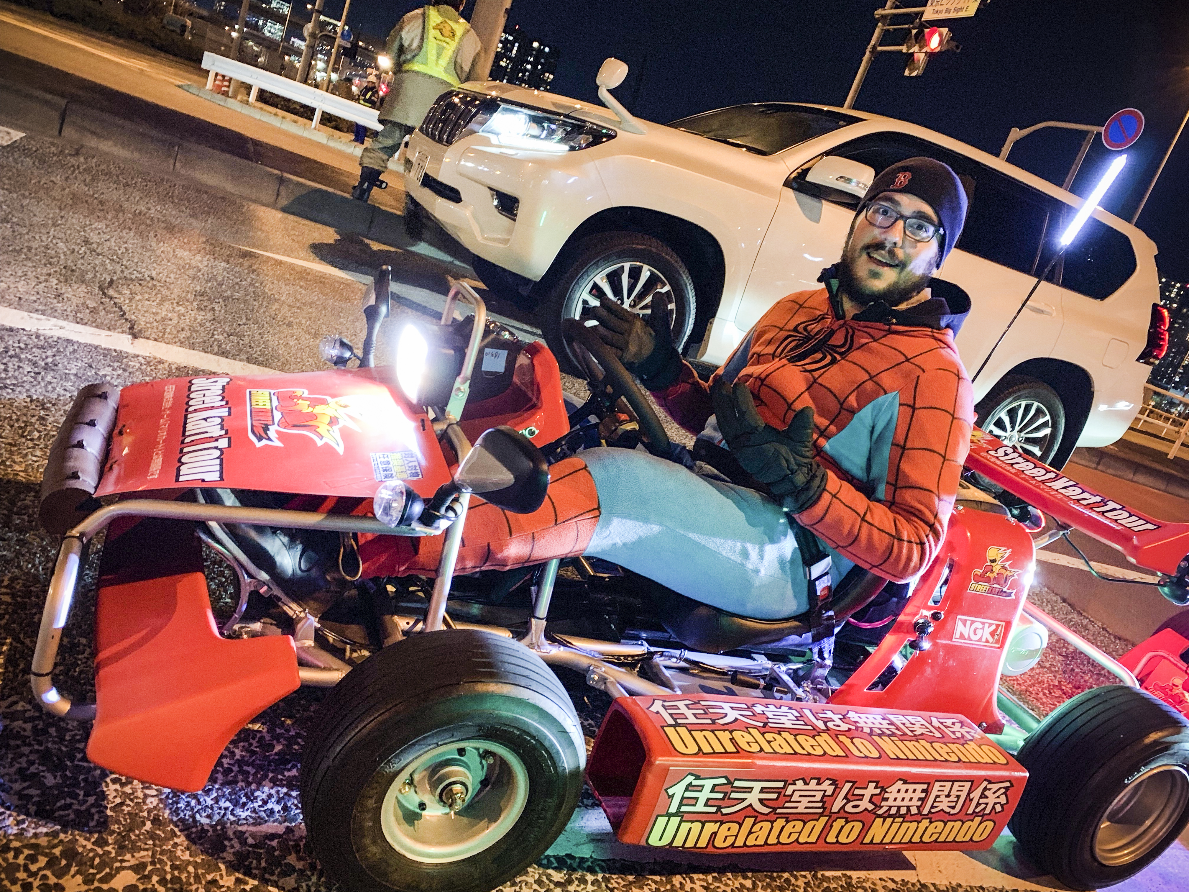 What I learned go-karting around Tokyo dressed as Spider-Man