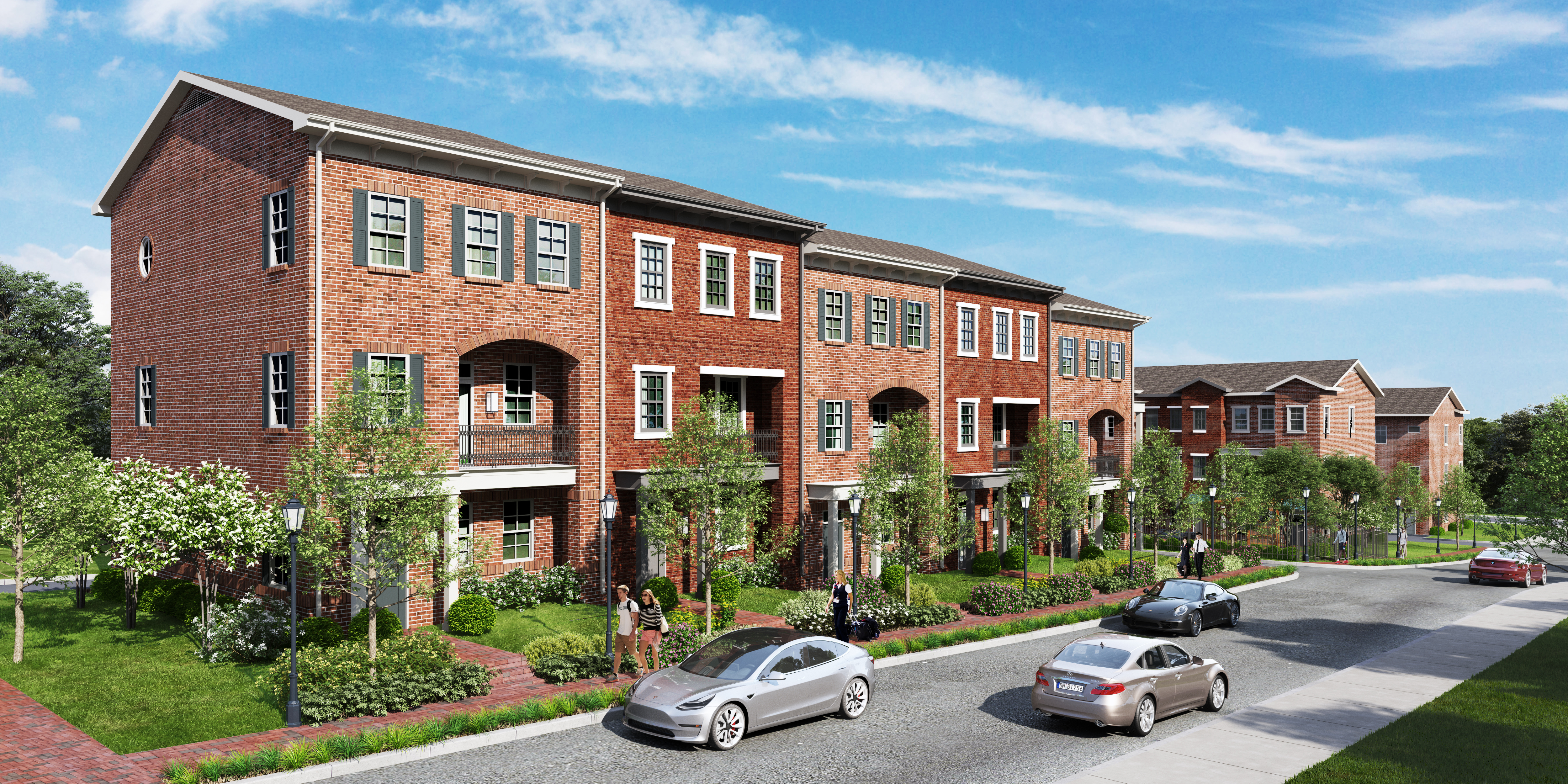 a rendering of the townhomes