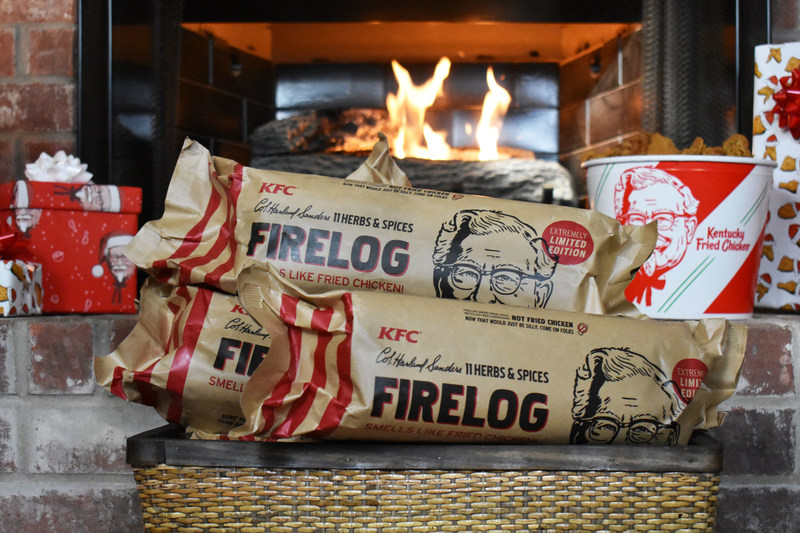 Curl Up in Front of a Fried Chicken-Scented Fire This Winter, Thanks to KFC