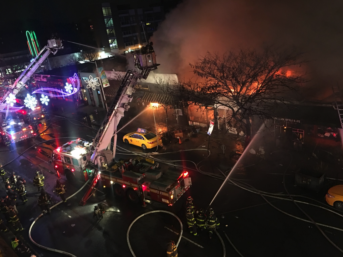 12 People Injured and 3 Restaurants 'Destroyed' in Queens Fire