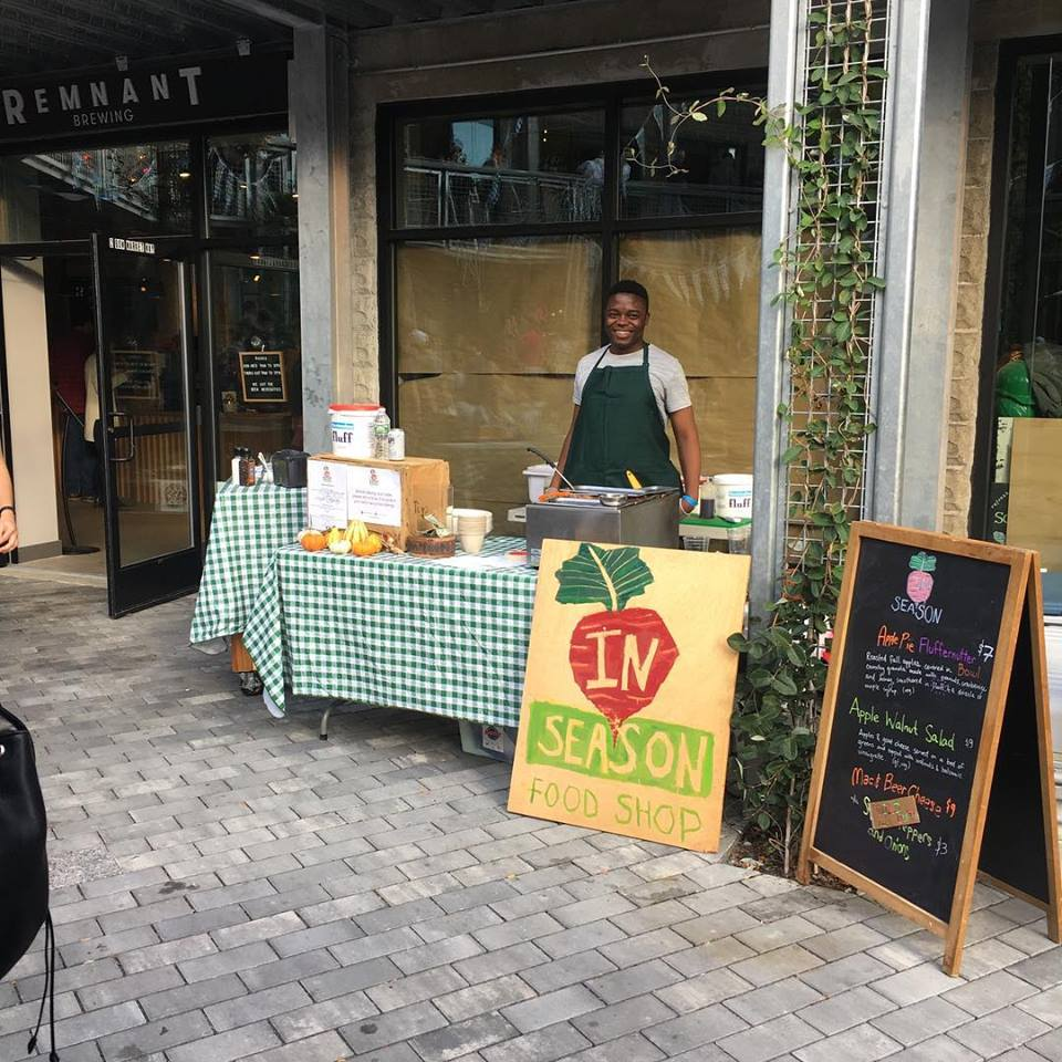 A previous In Season pop-up outside its storefront at Bow Market