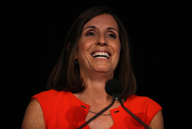 Arizona GOP Senate Candidate Martha McSally Attends Primary Night Event In Tempe