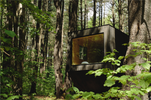 A two-person cabin in the trees, similar to offerings coming outside Atlanta.
