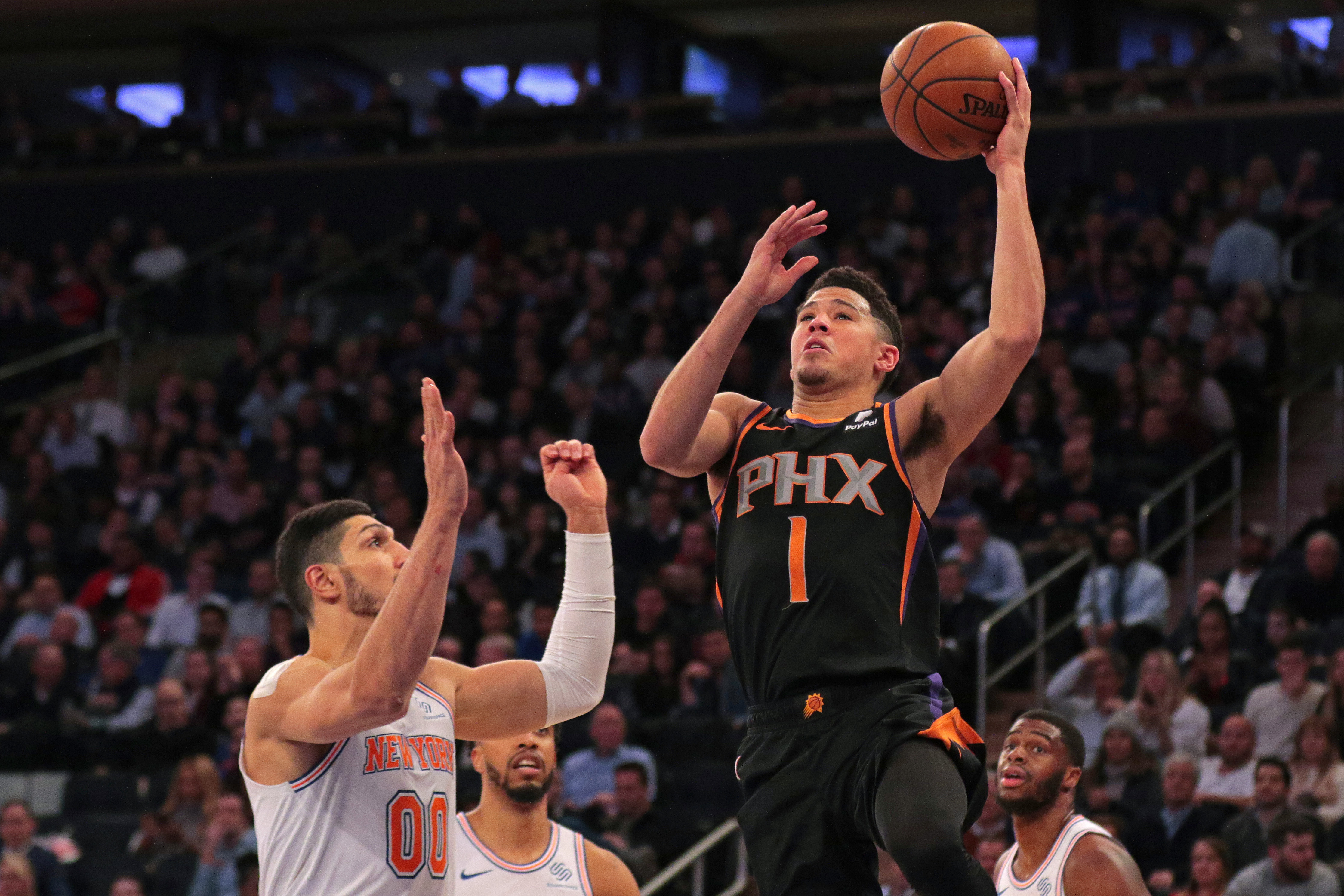 daed546b00ce Devin Booker ethers pick-and-roll sieve Enes Kanter after the Suns  latest  victory