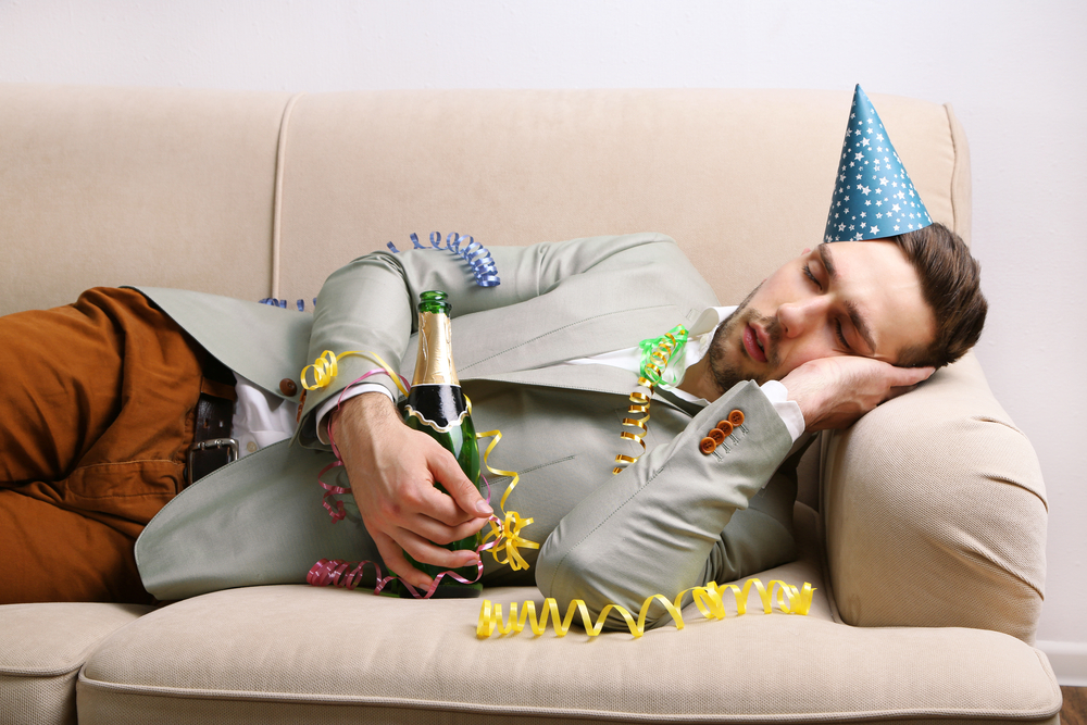 New Year's Day hangover
