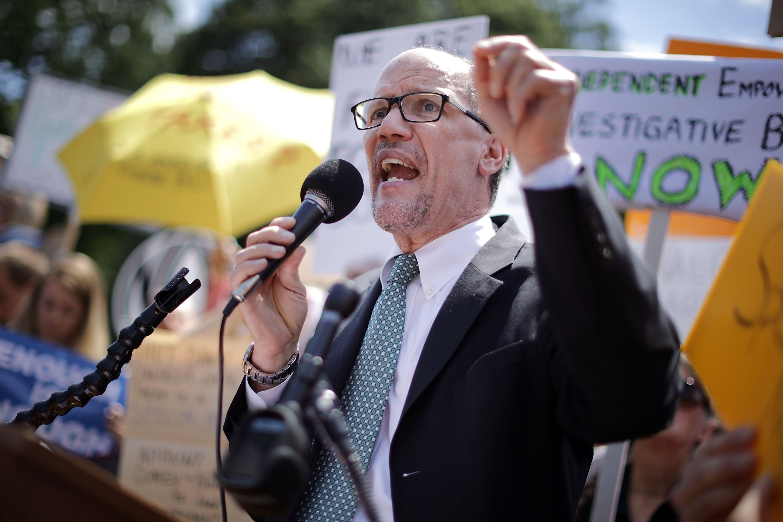 Demonstrators Protest Outside White House Over President Trump's Firing Of FBI Director James Comey