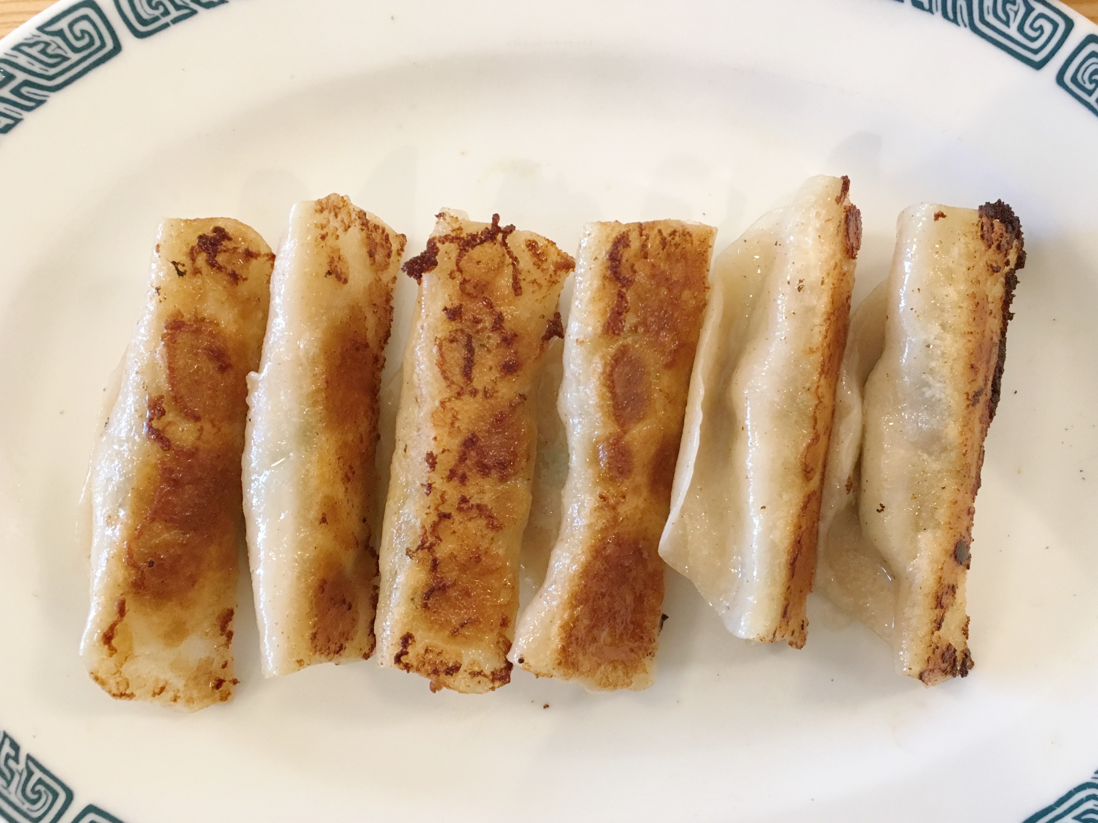 Pan-fried dumplings at Sweet Chive