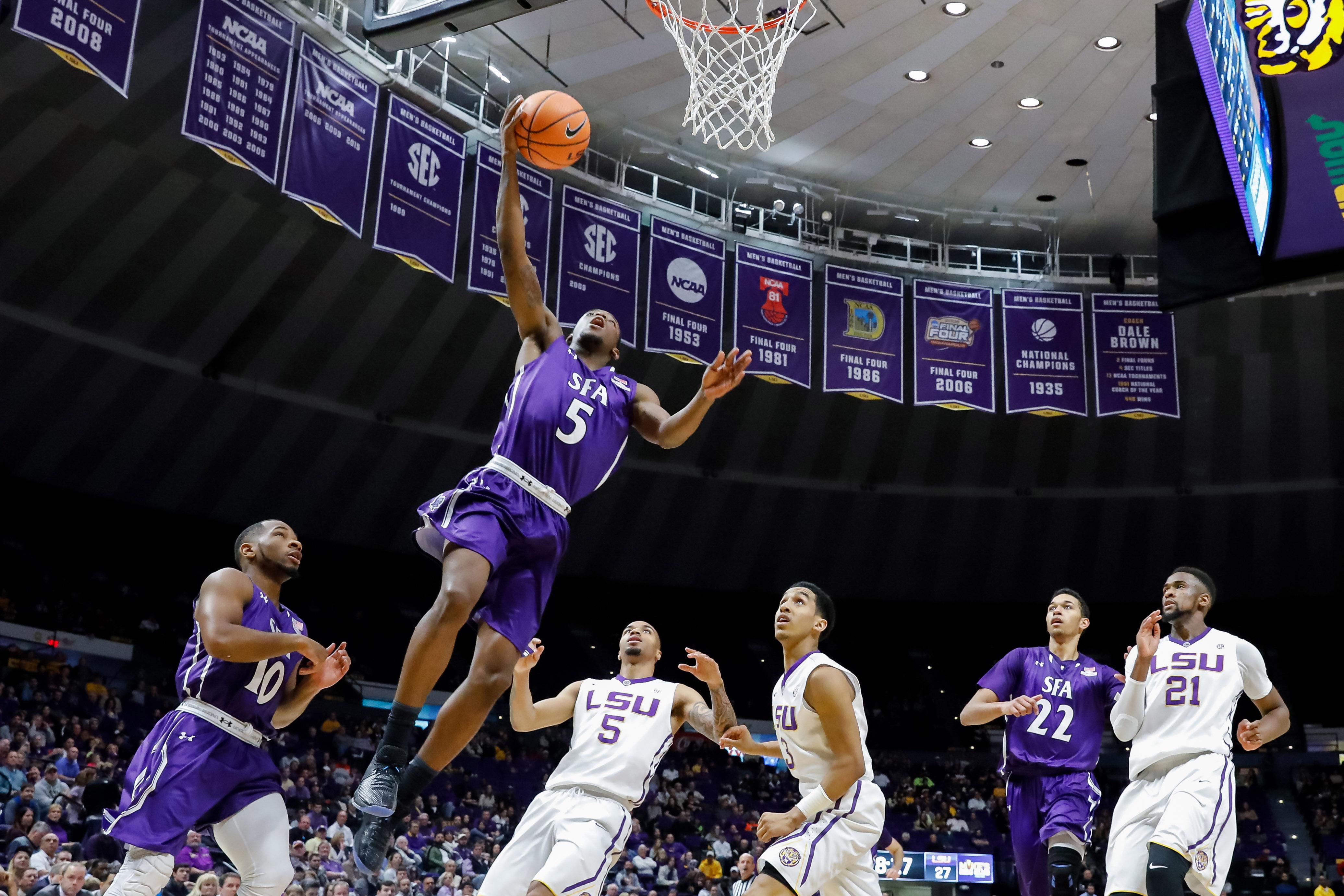 NCAA Basketball: Stephen F. Austin at Louisiana State