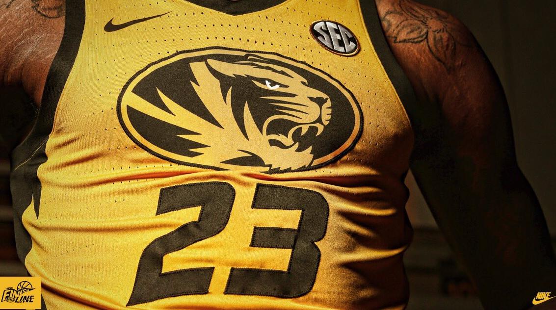 mizzou gold uniforms basketball