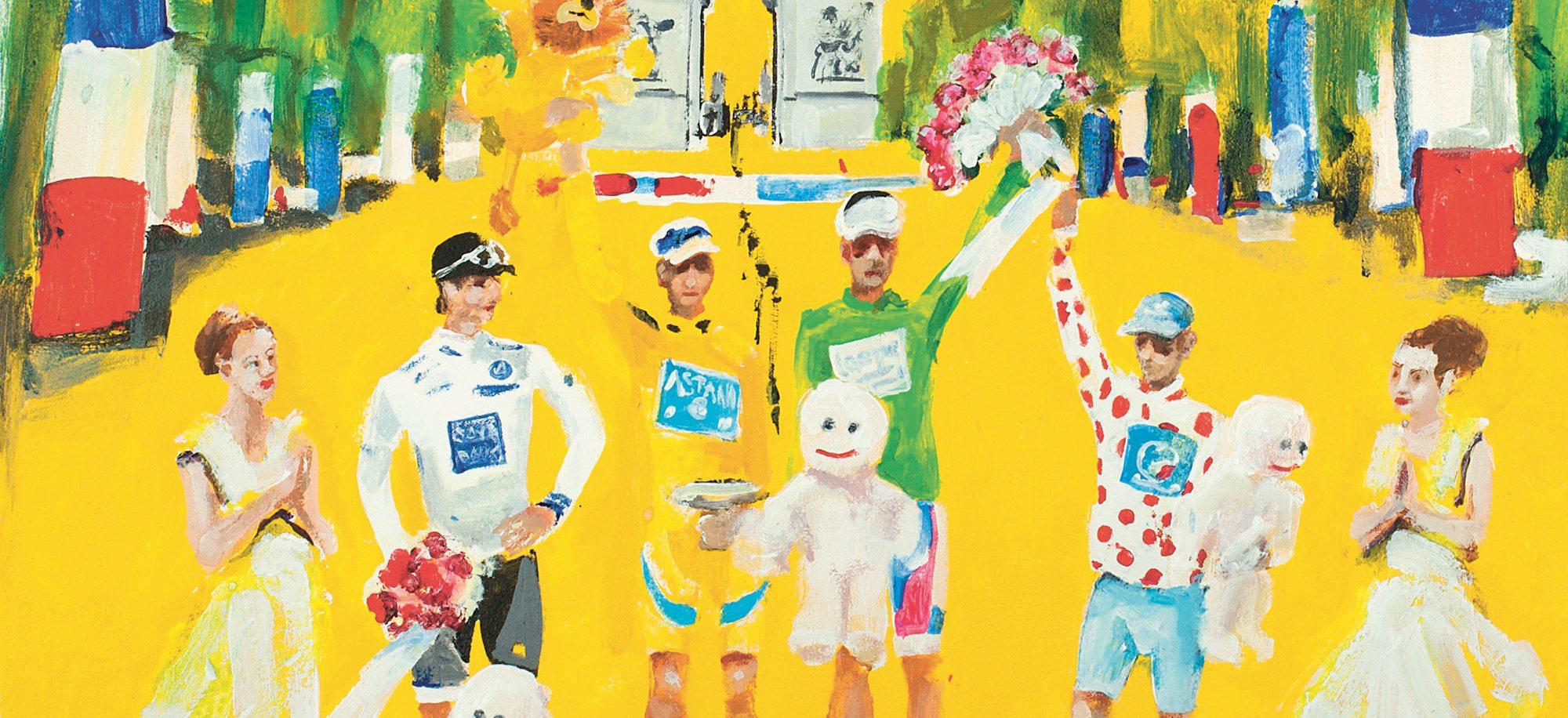 The Tour de France on the Champs Élysées