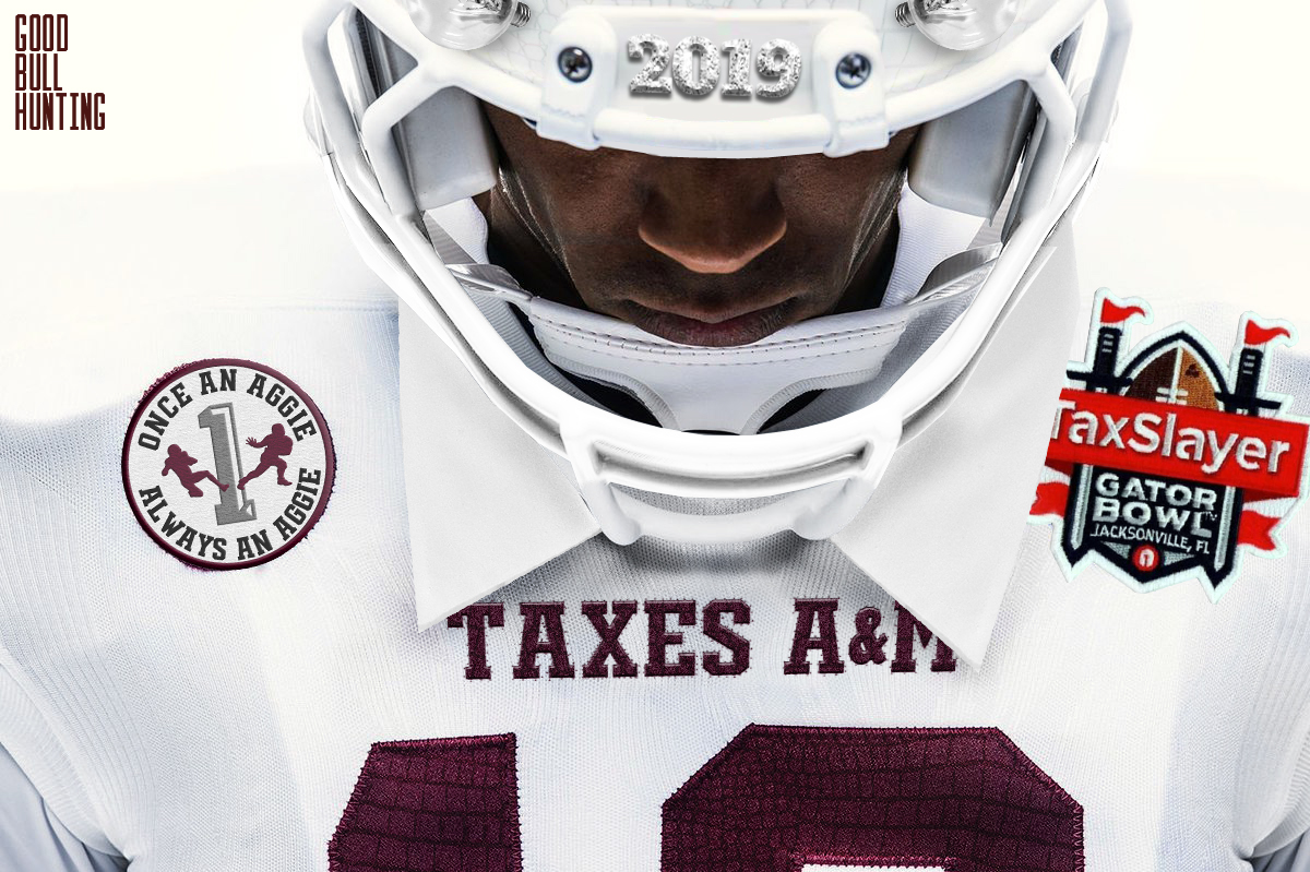 00e3d4b1105151 Taxes A M unveils uniforms for TaxSlayer Gator Bowl
