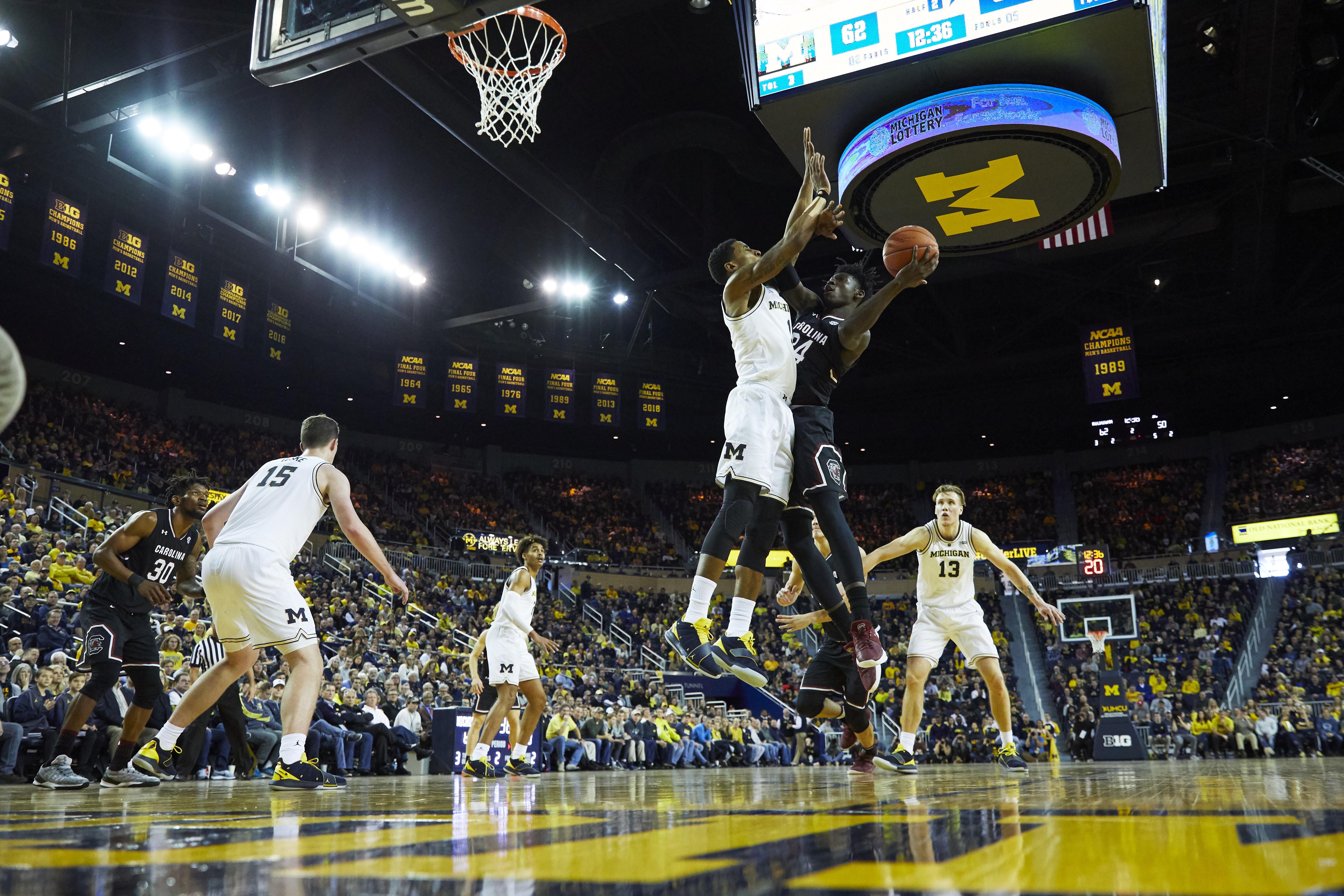 NCAA Basketball: South Carolina at Michigan