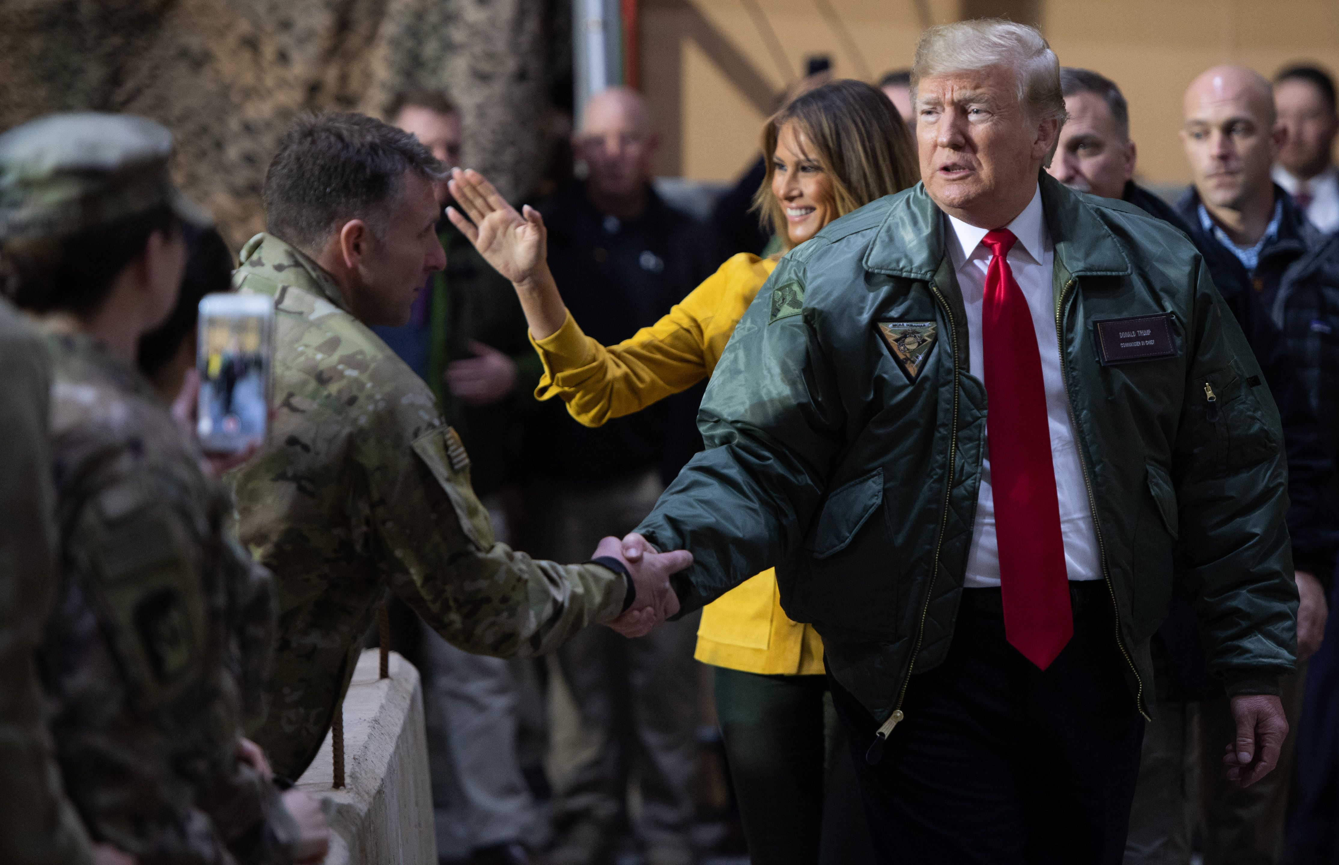 Trump's secret trip to Iraq didn't quite go as planned