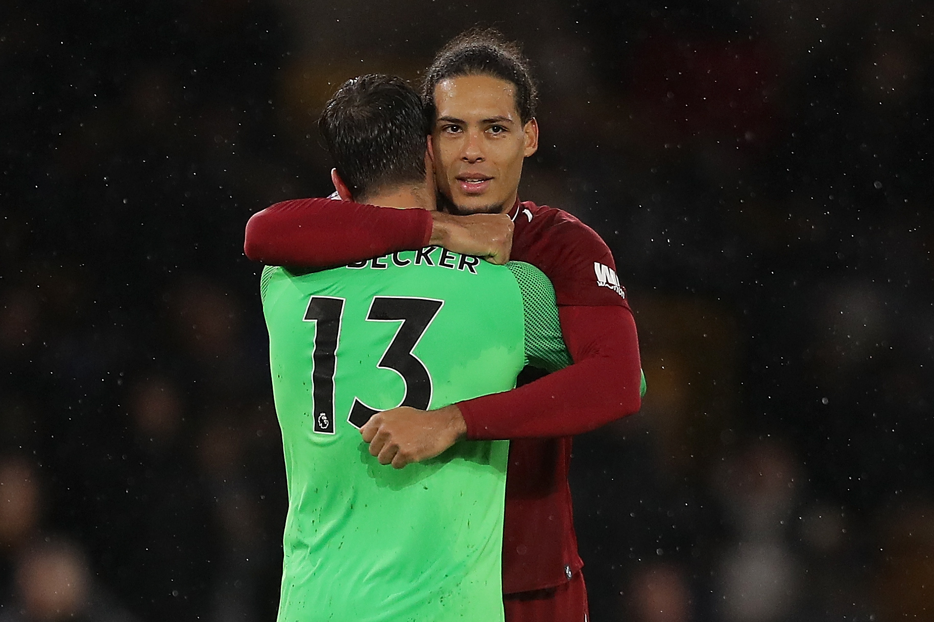 Virgil van Dijk and Alisson - Liverpool FC - Premier League