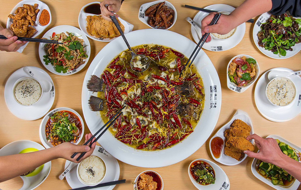 An arraay of dishes from Tai 2 Chinese Sauerkraut Fish