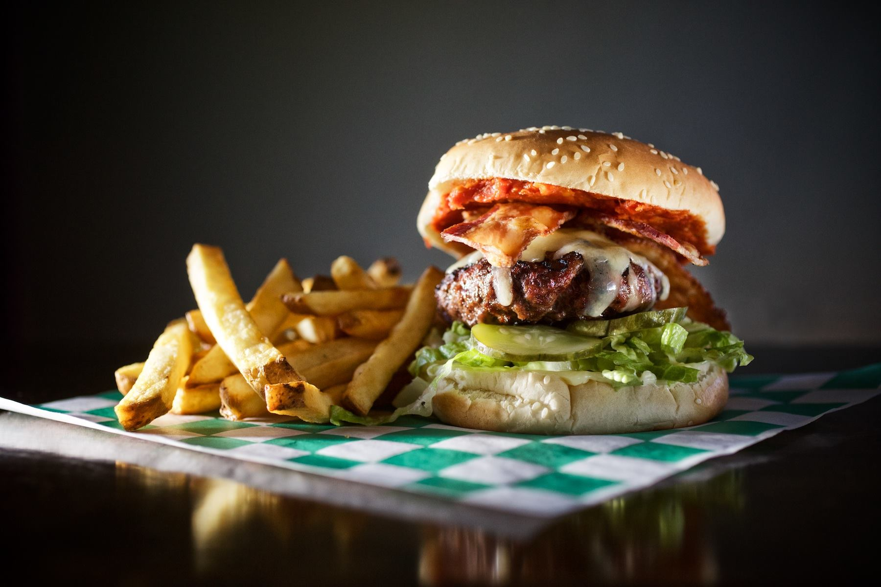 A burger from Royal Jelly