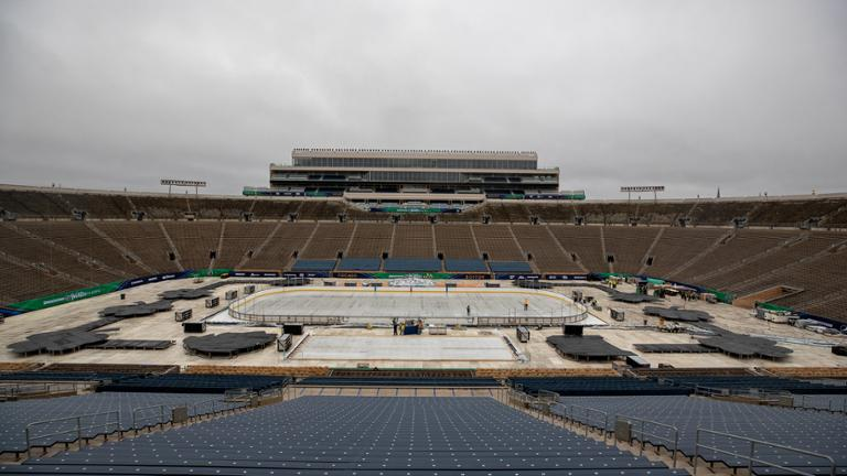 e089ed0ea Watch: 2019 Winter Classic rink time lapse at Notre Dame Stadium