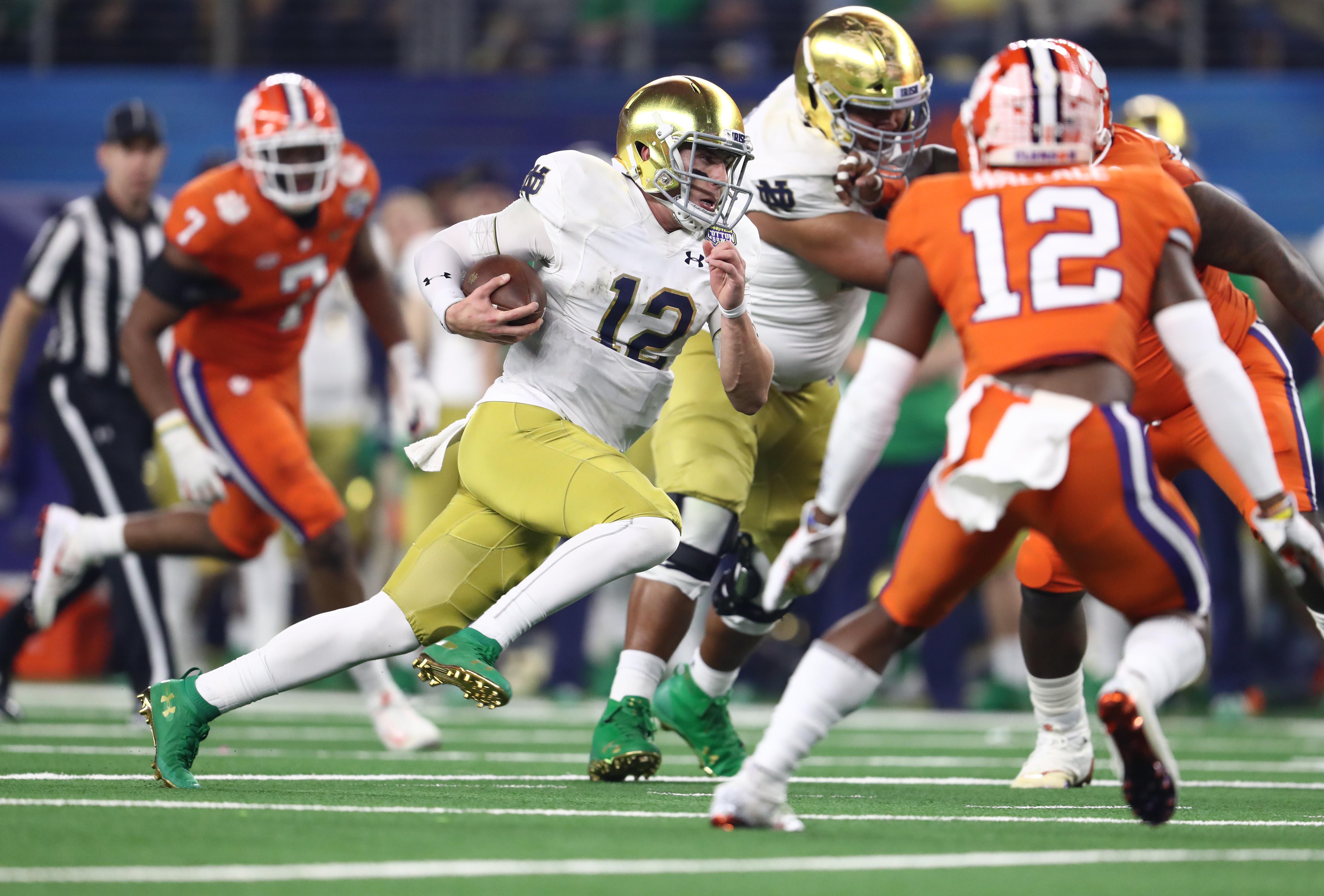 NCAA Football: College Football Playoff Semifinal-Cotton Bowl-Notre Dame vs Clemson