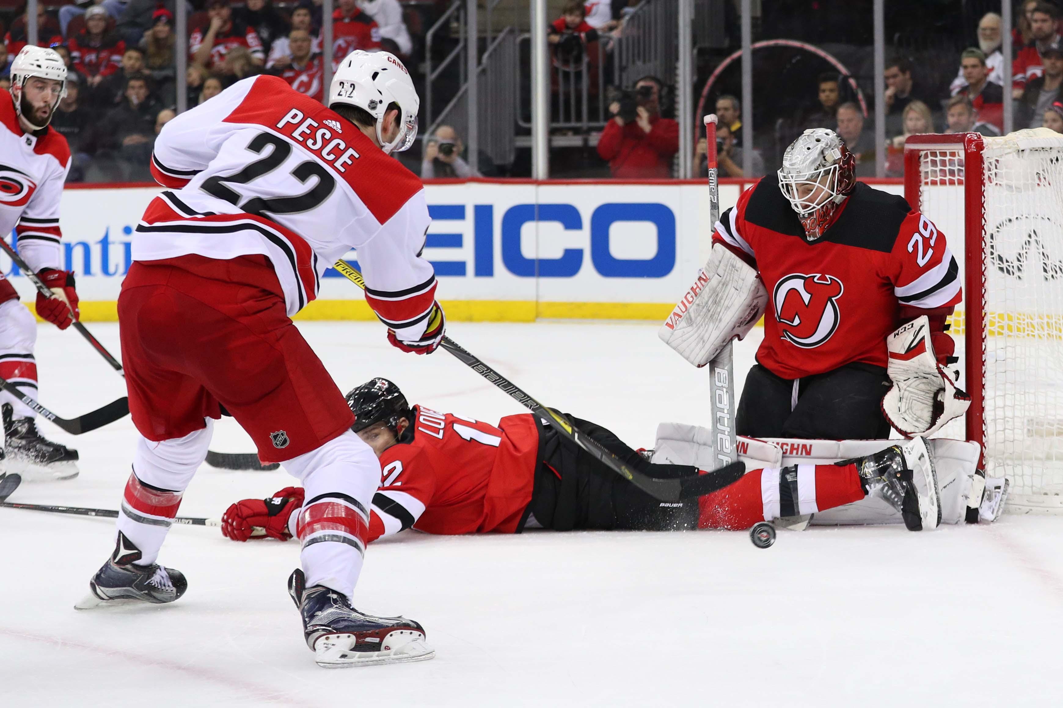 NHL: Carolina Hurricanes at New Jersey Devils