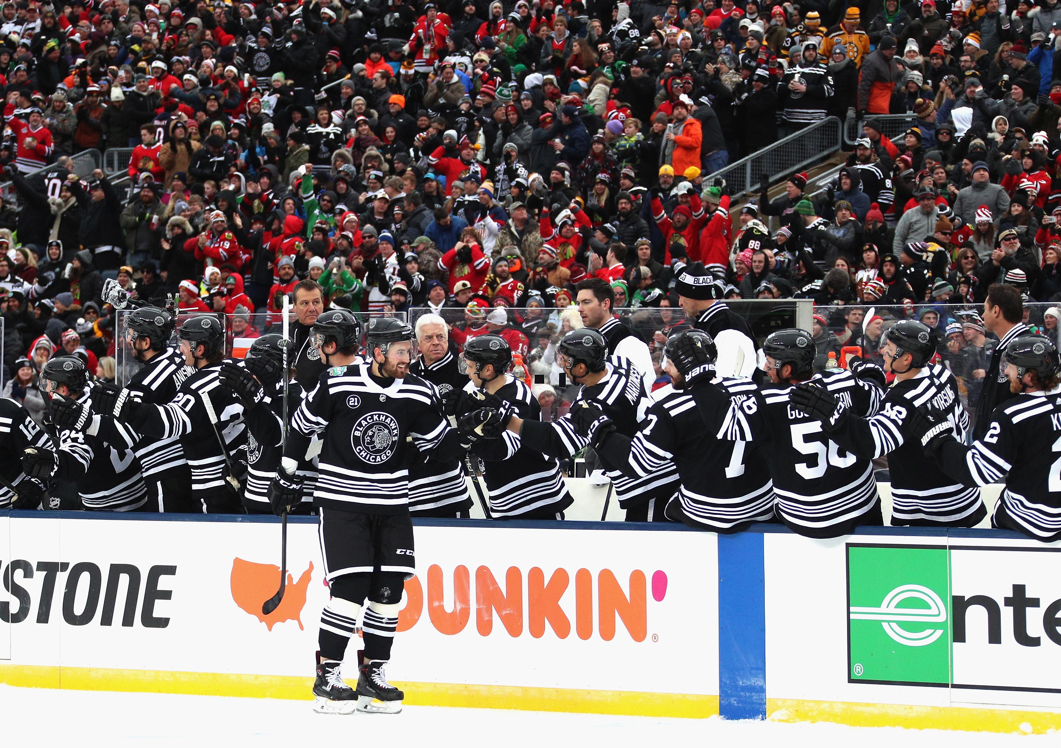 814752789 2019 Bridgestone NHL Winter Classic - Boston Bruins v Chicago Blackhawks