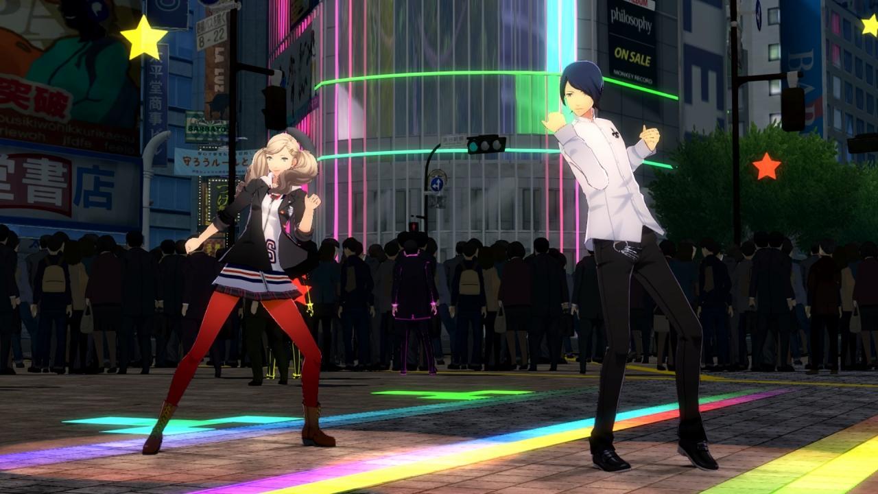 Ann and Yusuke dancing in Persona 5: Dancing Starlight
