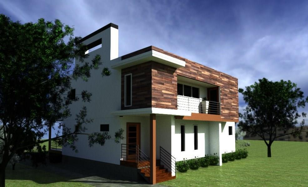 Rendering of a controversial modern house in Westview.