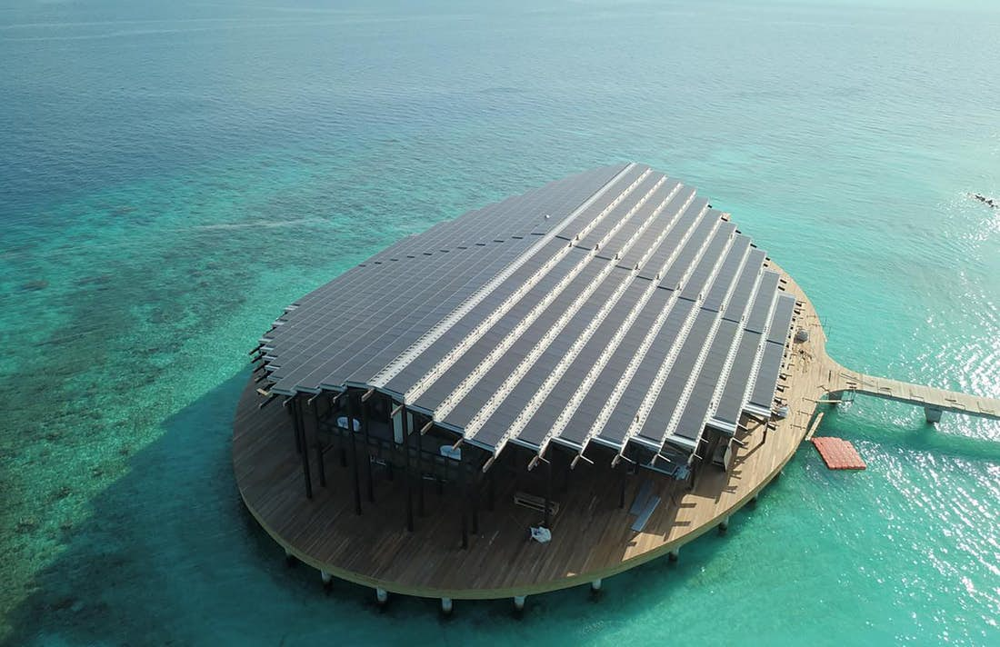 Maldives luxury resort is powered entirely by solar panels