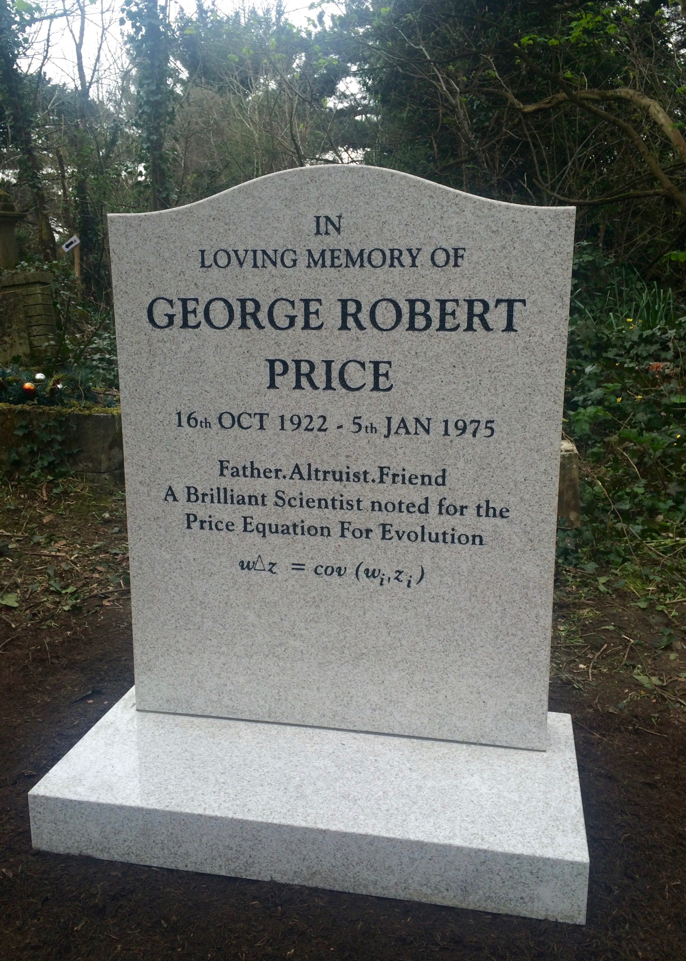 Evolution: biologist George Price's life and death