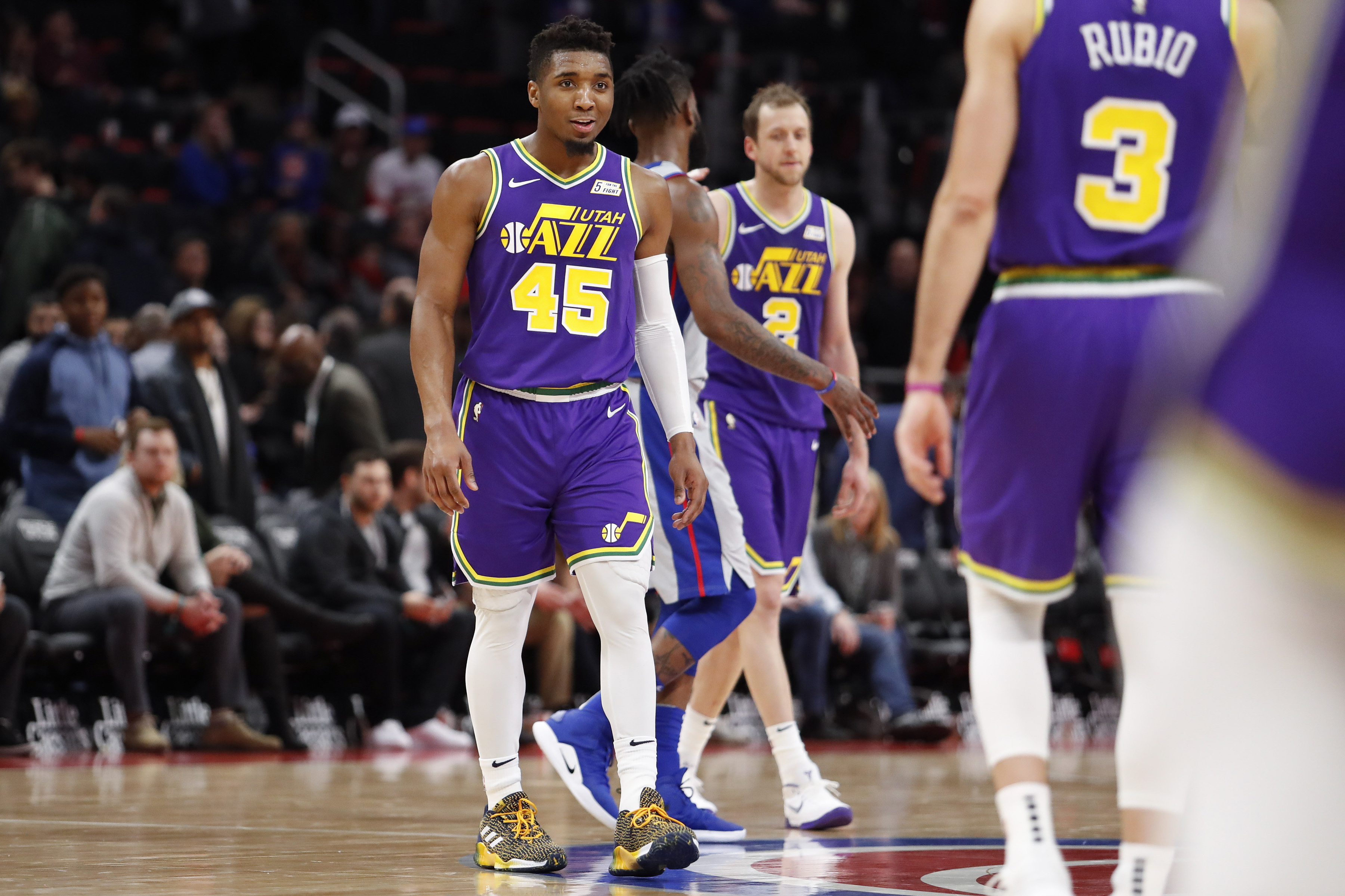 f93927eed6e Donovan Mitchell and the Utah Jazz surge past the Detroit Pistons