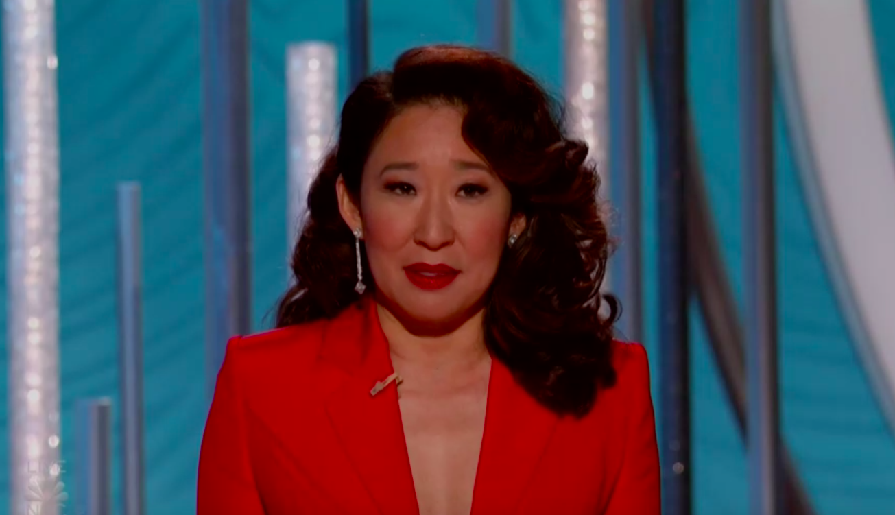 """Sandra Oh gave a passionate tribute at the Golden Globes to the """"faces of change."""""""