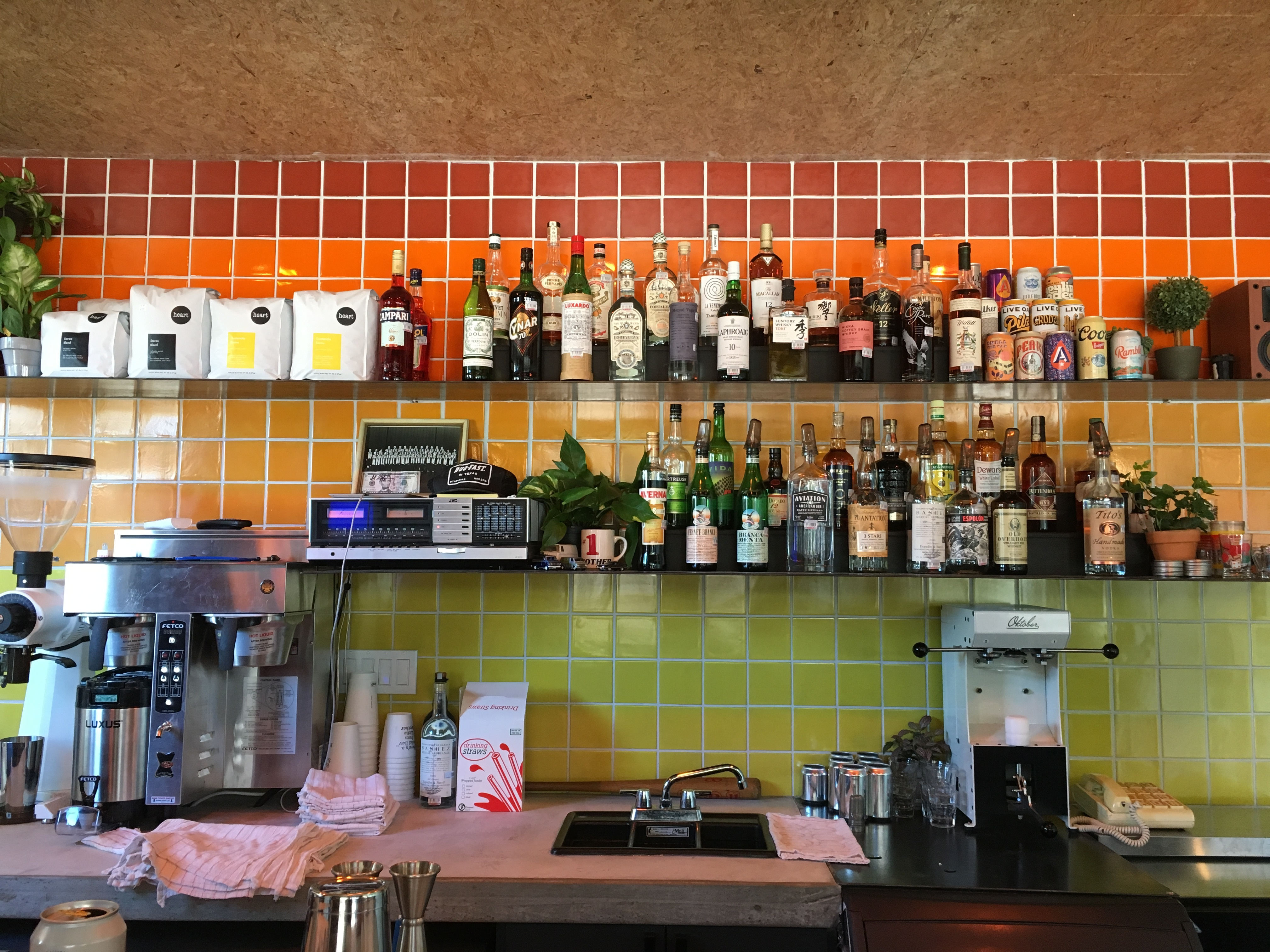 Little Brother's back bar