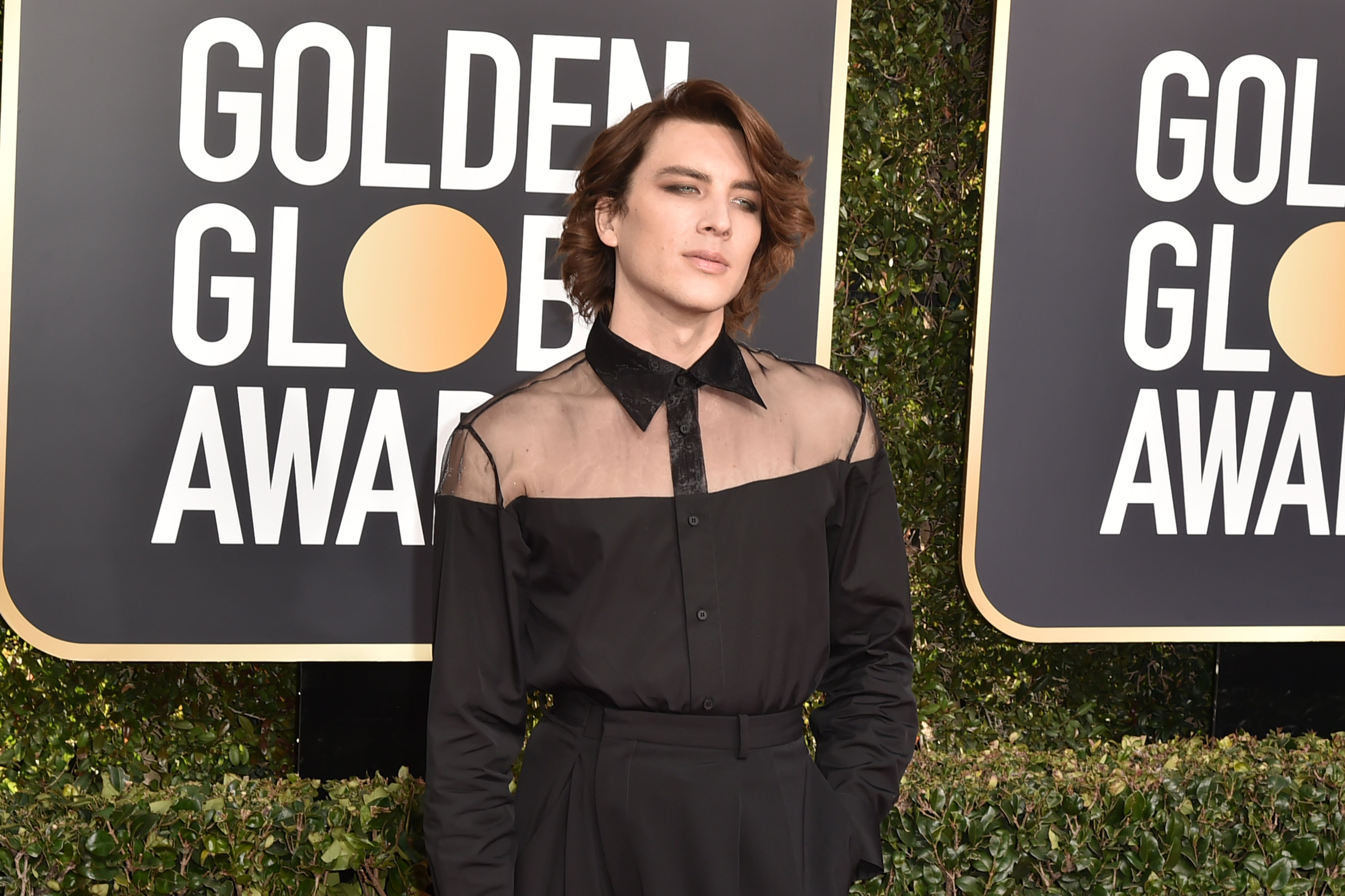 How gender-fluid fashion elevated men's looks at the Golden Globes