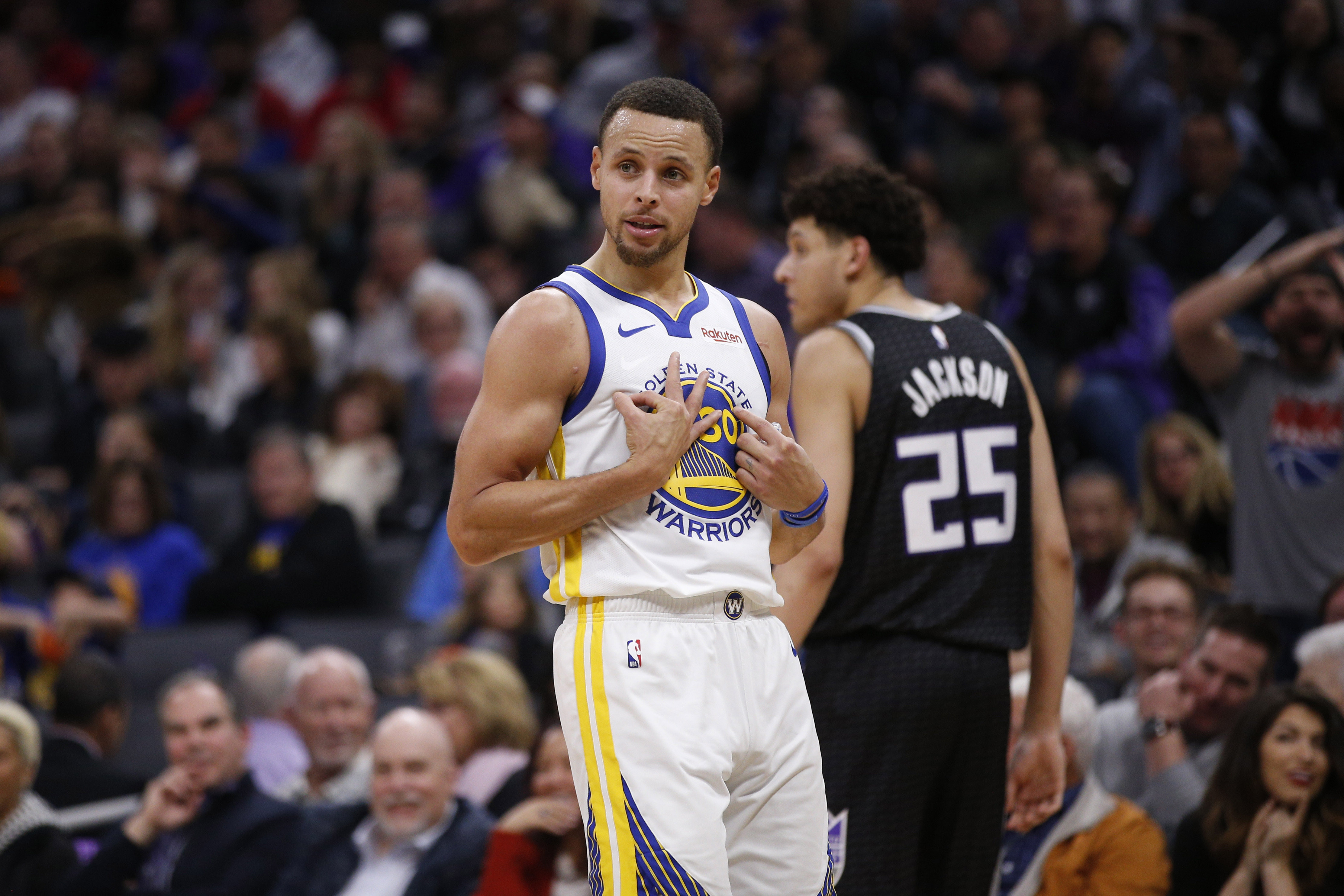 Warriors video  Steph Curry trolls James Harden against the Kings ... c2586f178