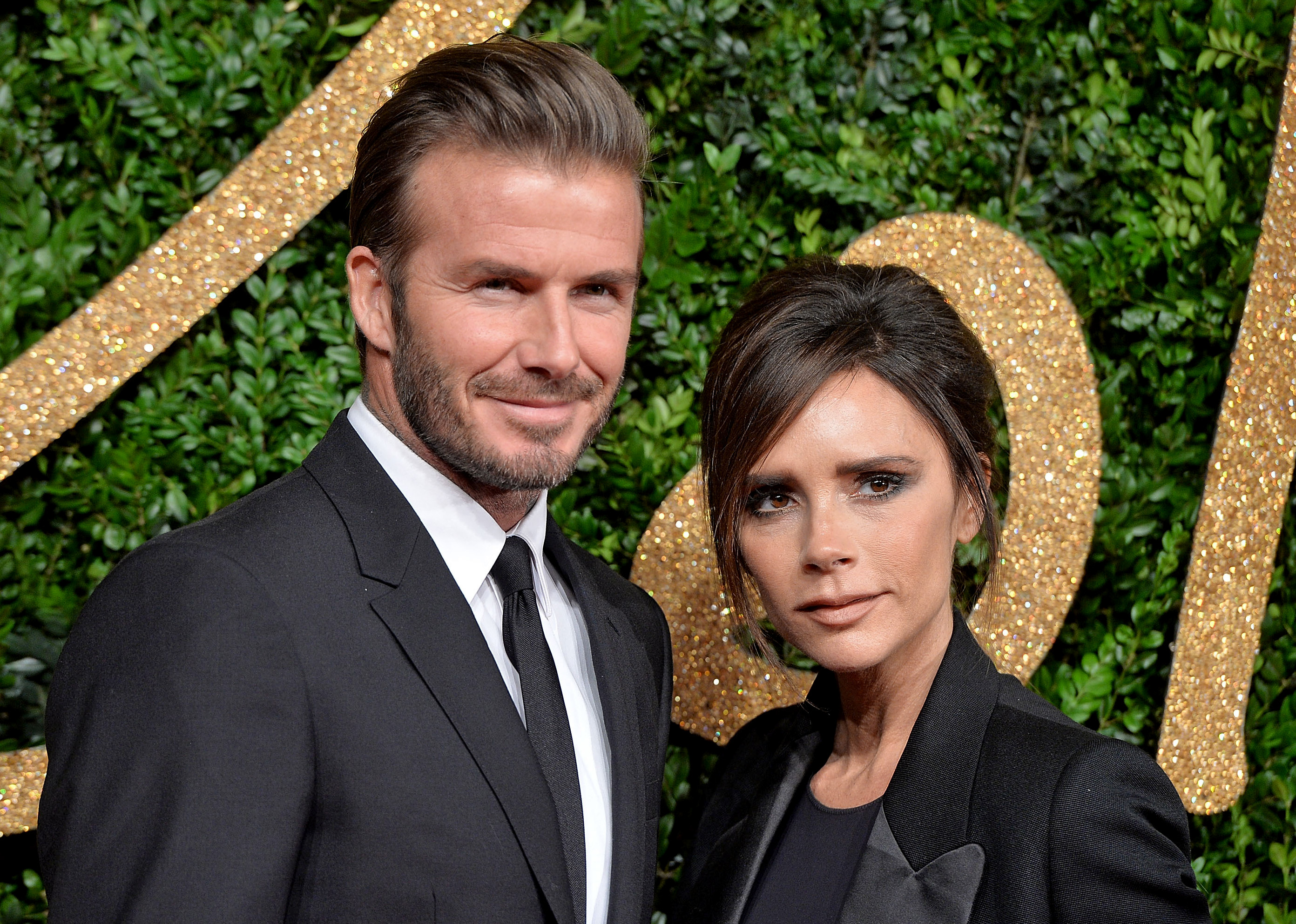 David and Victoria Beckham hosted dinner at Selfridges' glitzy new restaurant Brasserie of Light on Oxford Street in London