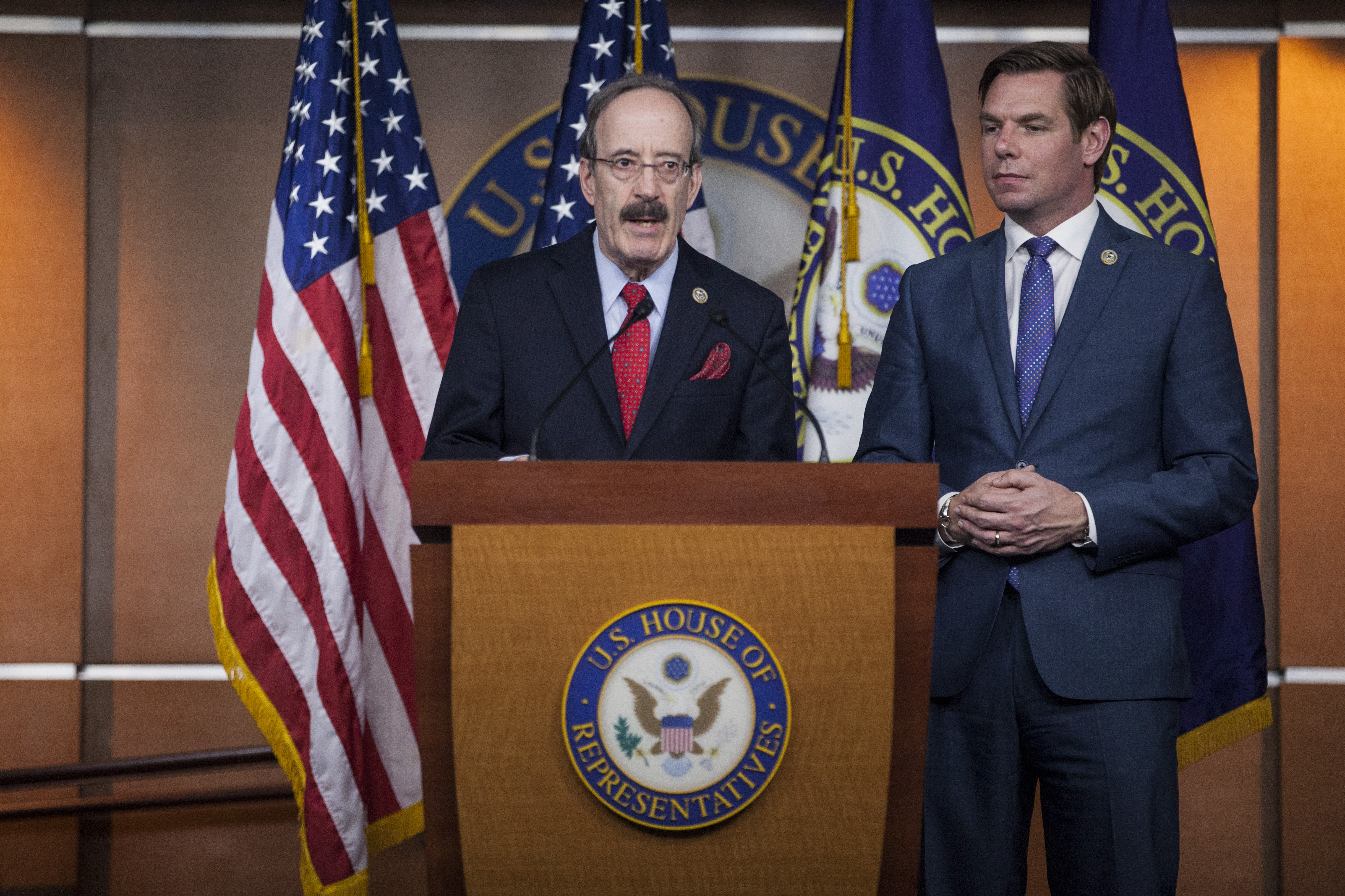 House Foreign Affairs Committee Chairman Rep. Elliot Engel (D-NY) during a news conference on April 5, 2017 in Washington, DC.